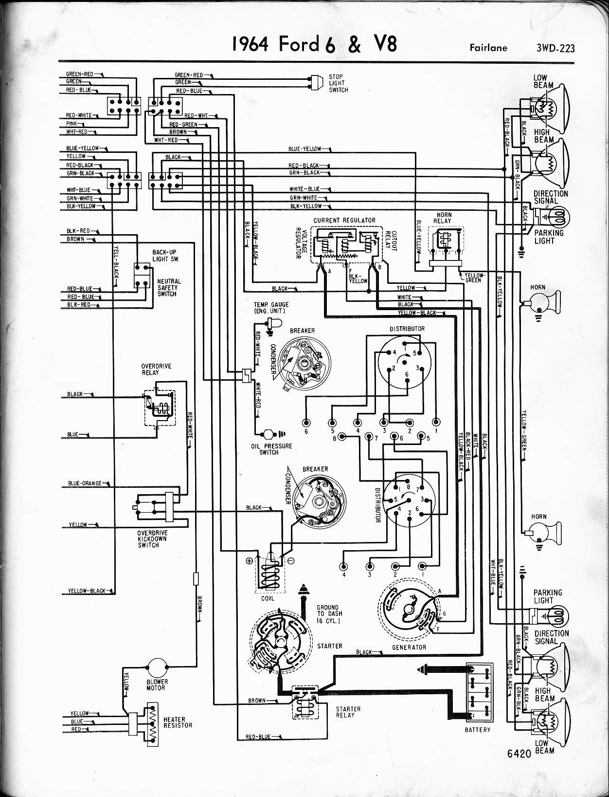 Ford 4 6 V8 Engine Diagram 57 65 ford Wiring Diagrams Of Ford 4 6 V8