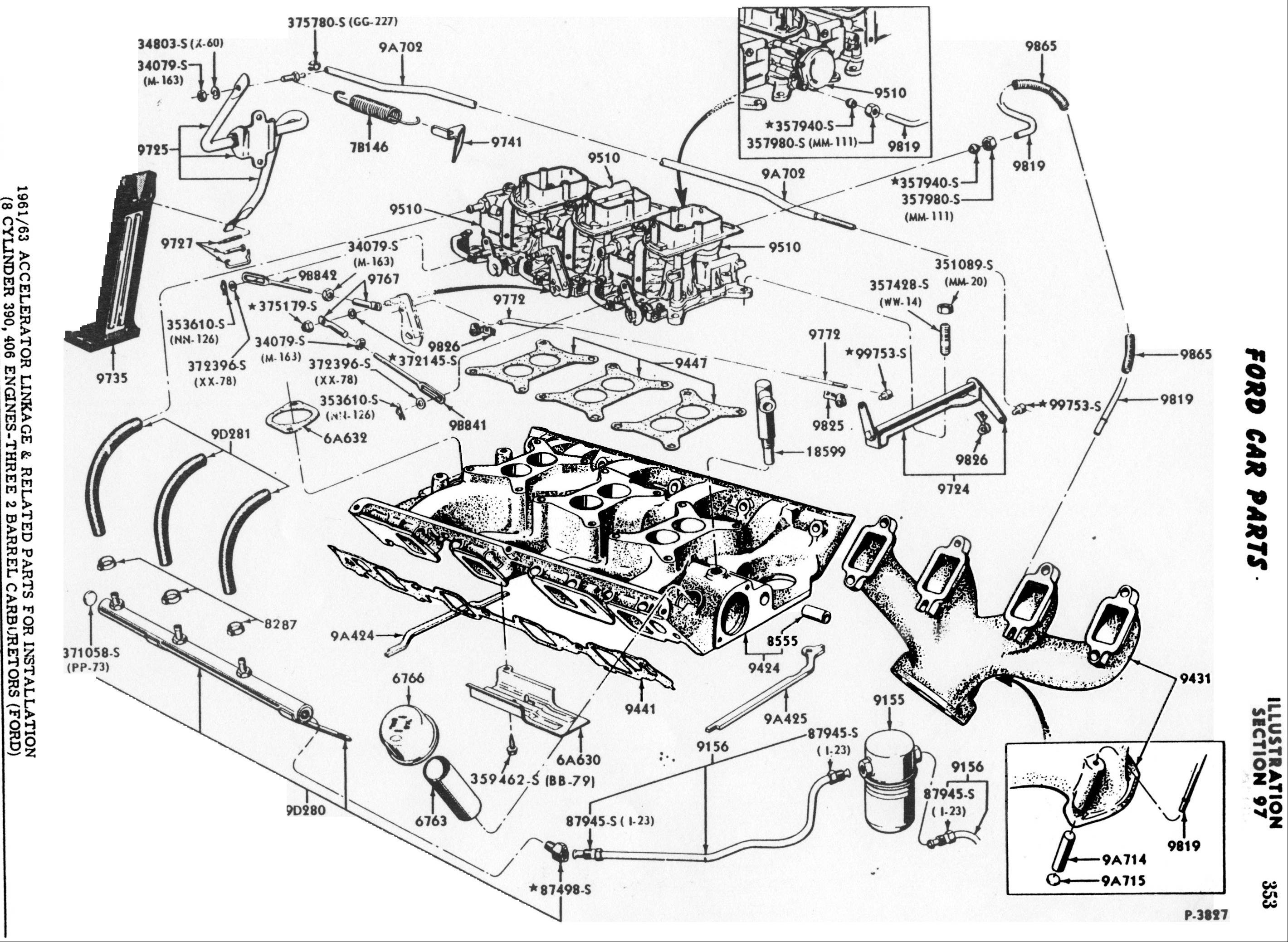 ford 460 engine diagram ford truck technical drawings and