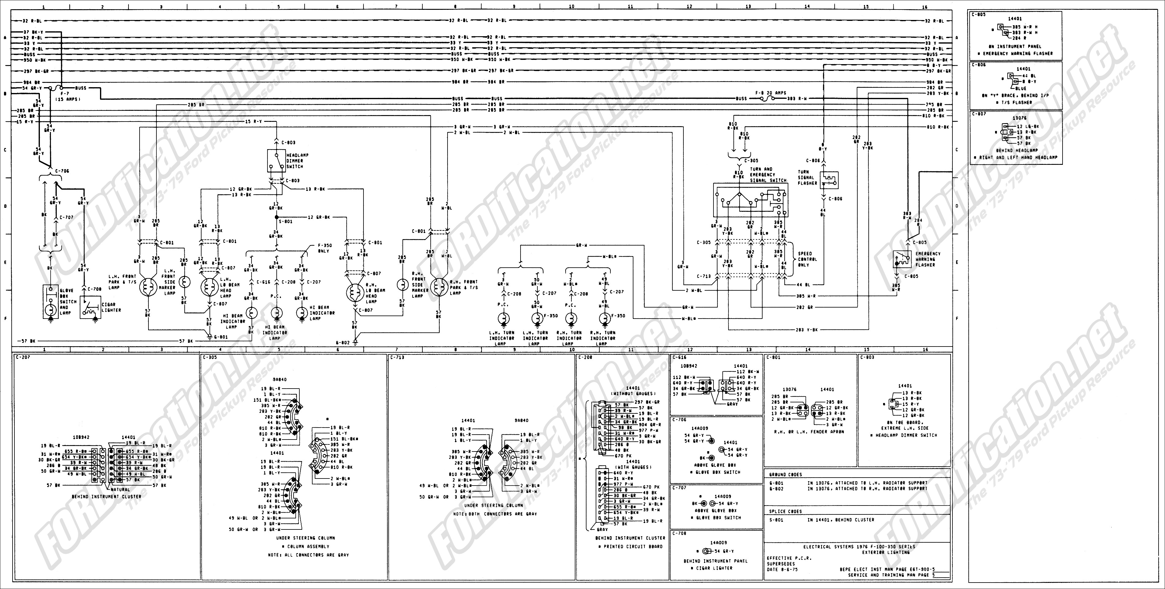 1973 1979 ford truck wiring diagrams schematics fordification net rh  fordification net 2007 F250 Wiring Diagram 1977 ford f250 wiring diagram