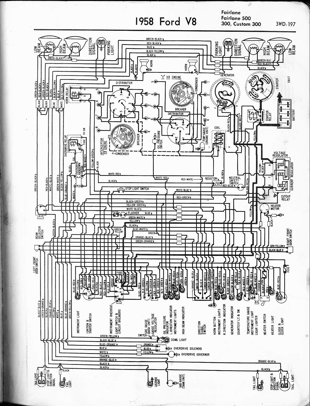 1956 ford wiring diagram wiring diagram directory  1956 ford car wiring diagram #2