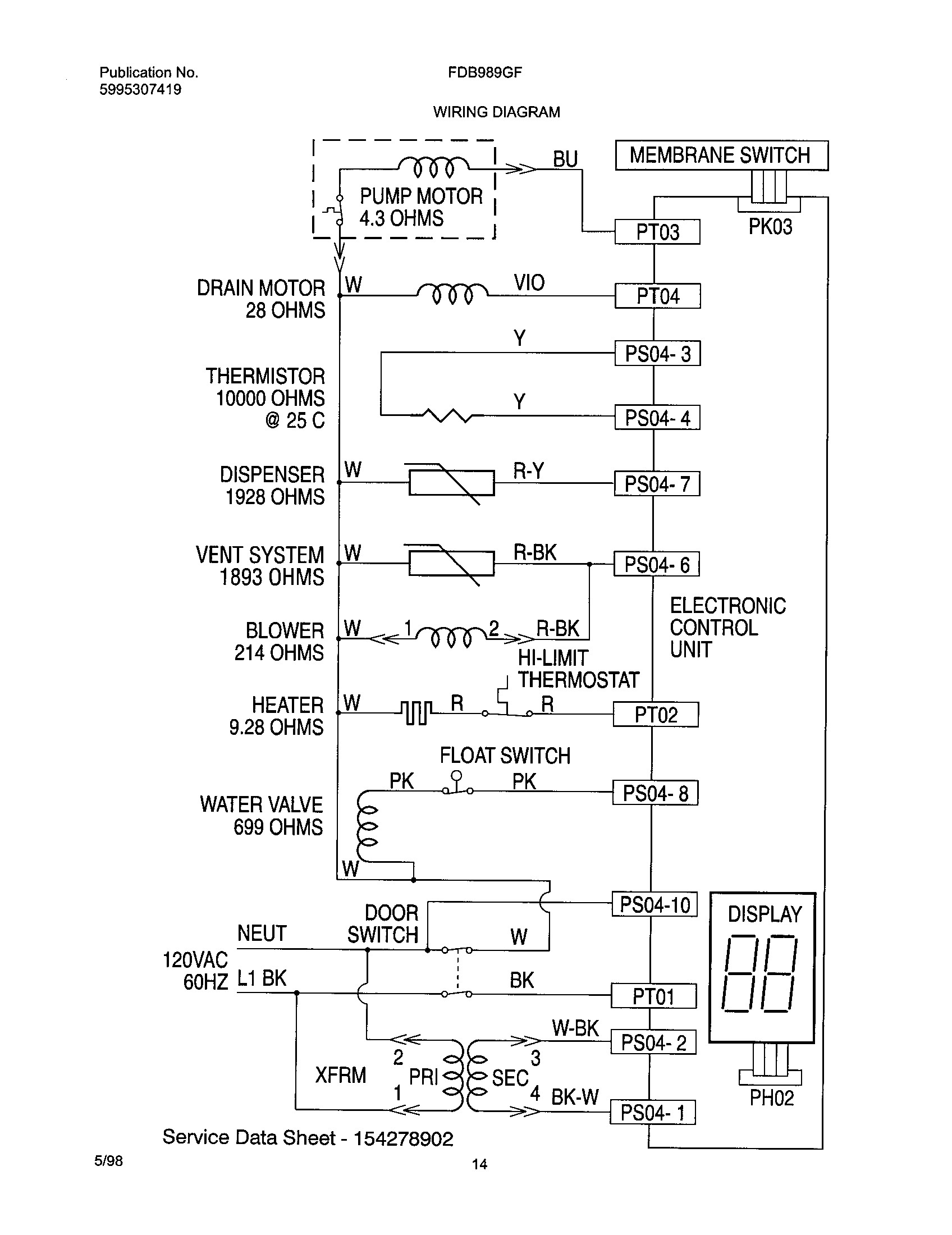 Frigidaire Dishwasher Parts Diagram Wiring To For B2network