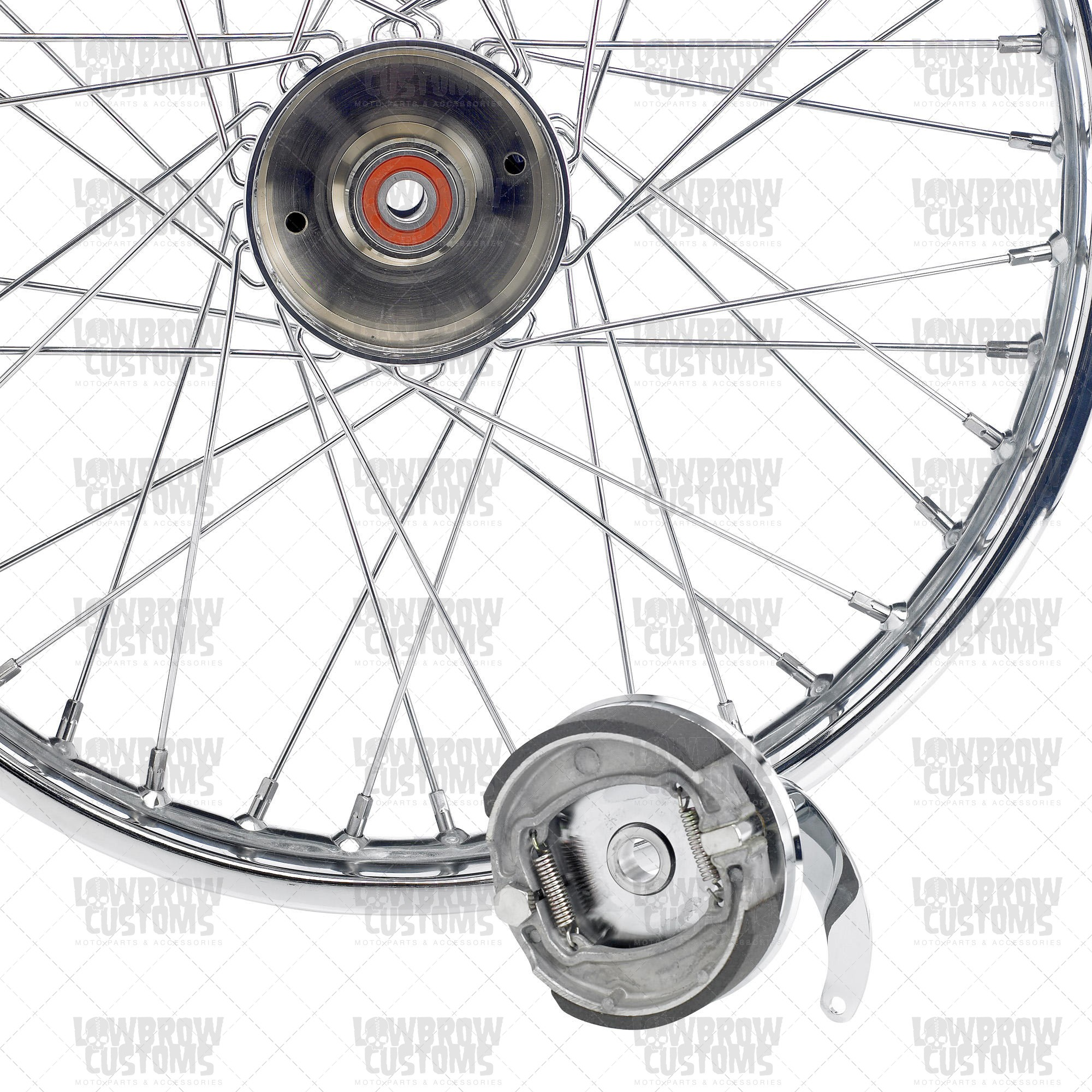 "Front Drum Brake Diagram 21"" Mini Brake Drum Chopper Wheel Of Front Drum Brake Diagram"