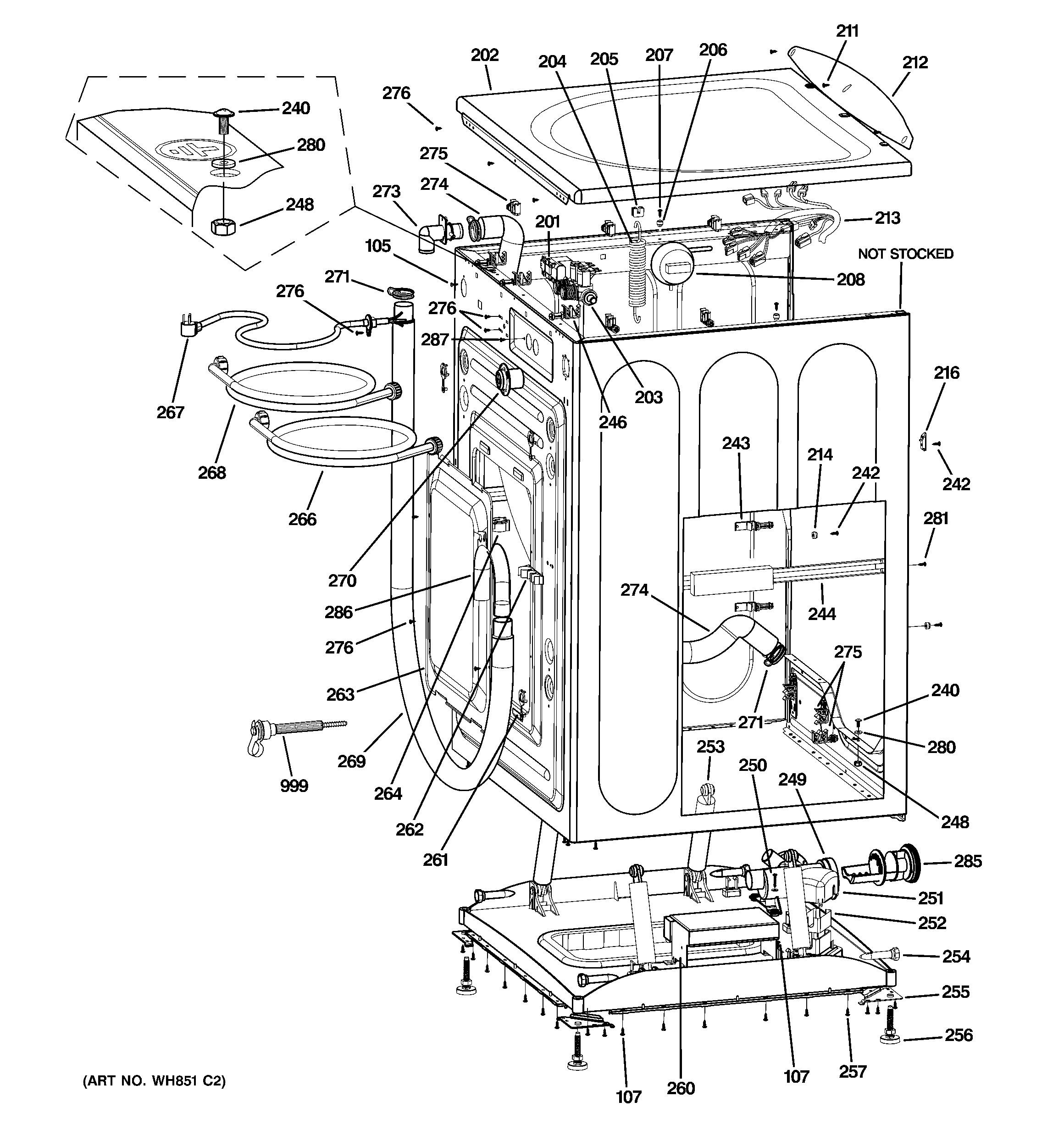 Front Suspension Diagram Ge Washer Parts Model Wcvh6600h1ww Of Front Suspension Diagram