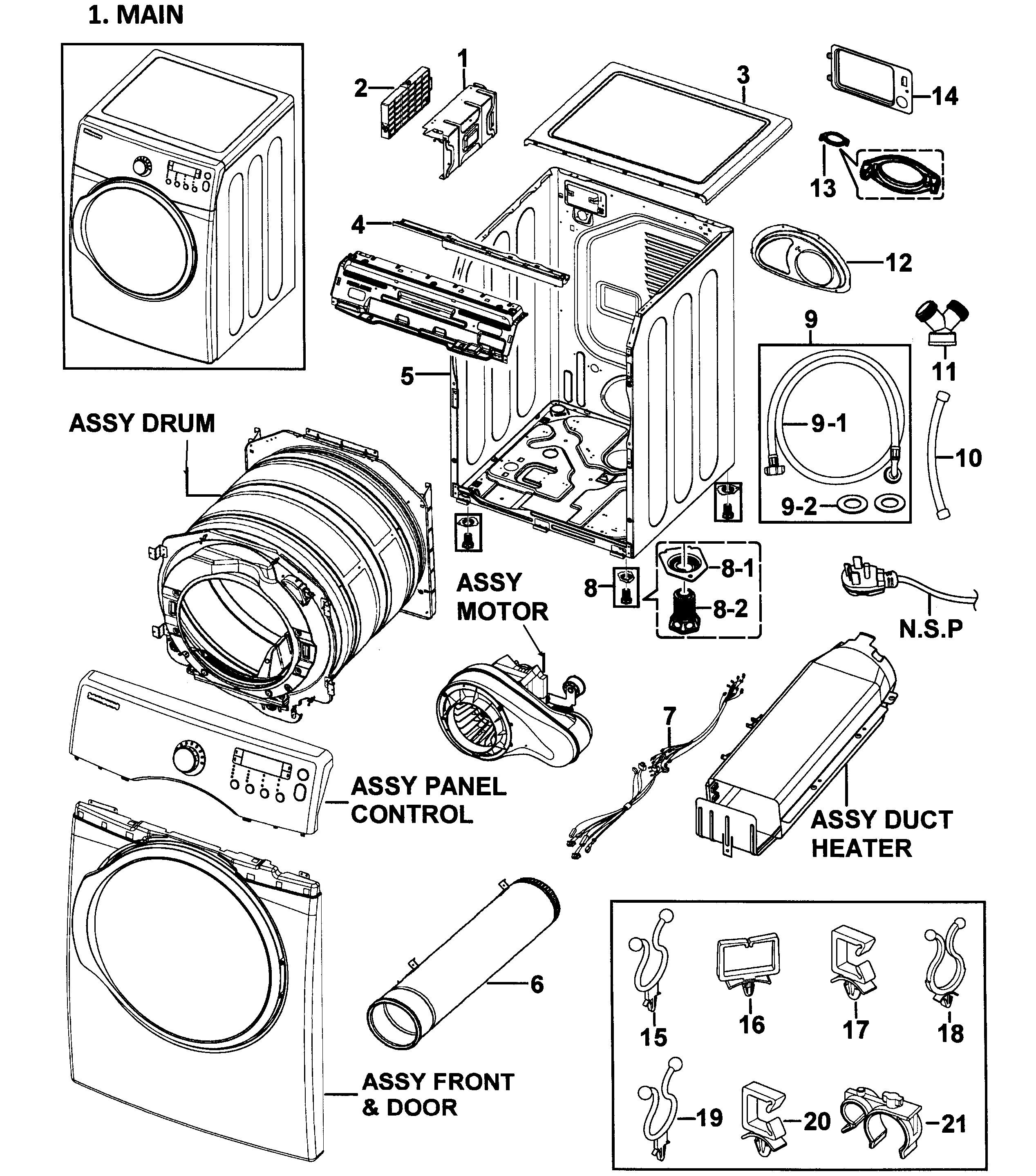 Ge Dryer Parts Diagram Samsung Model Dv350aer Xaa 0000 Residential ...