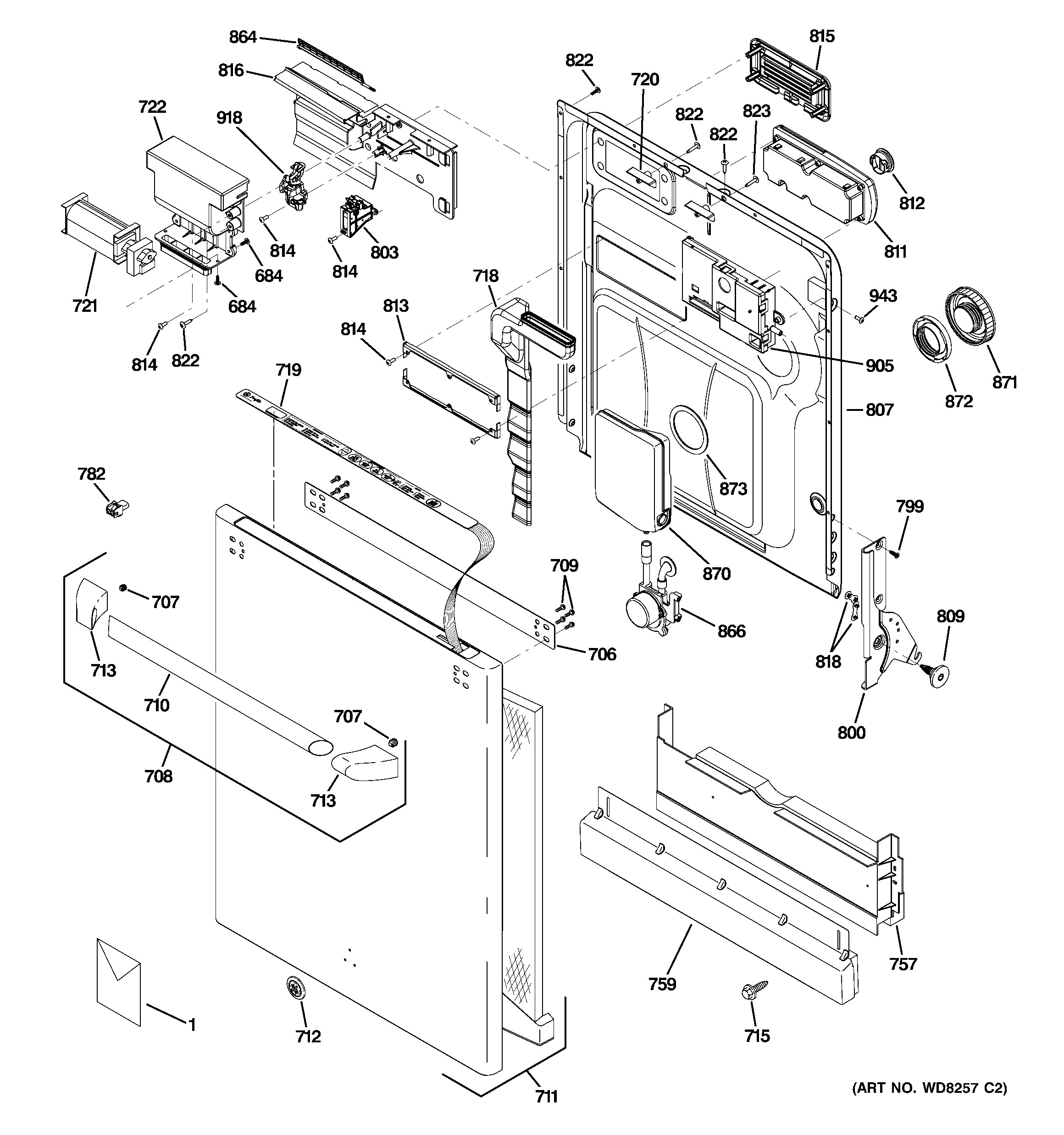 Ge Microwave Parts Diagram Ge Model Cdw9380n00ss Dishwasher Genuine Parts Of Ge Microwave Parts Diagram