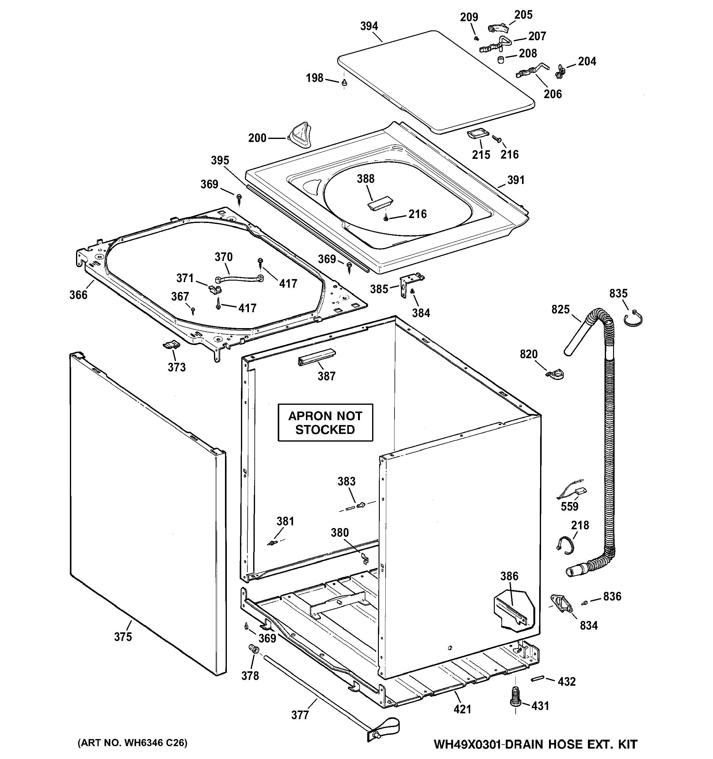 Ge Microwave Parts Diagram Ge Model Gtwn4250d2ws Residential Washers Genuine Parts Of Ge Microwave Parts Diagram