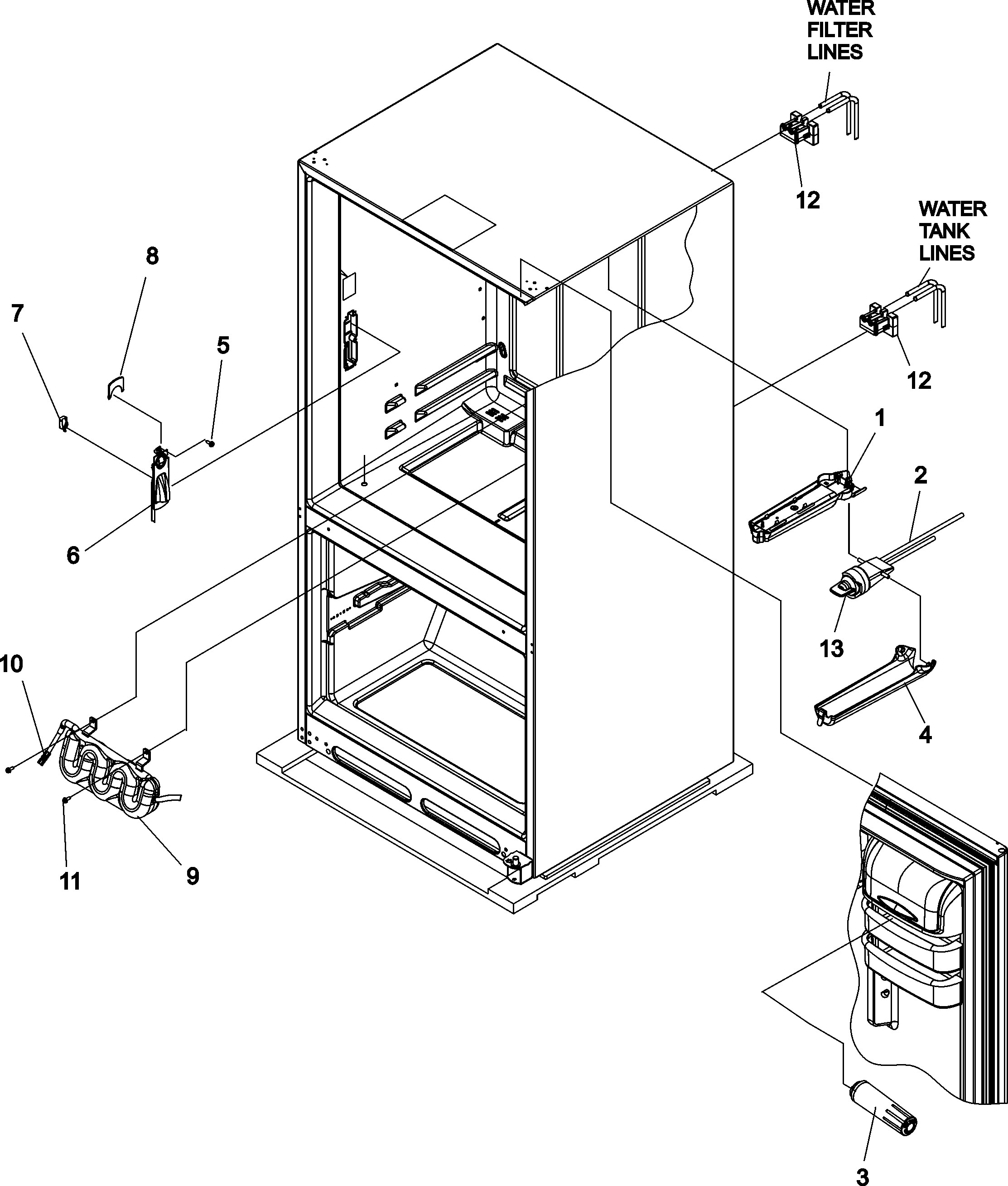 Ge Monogram Refrigerator Parts Diagram Kenmore Elite Model Bottom Mount Refrigerator Genuine Parts Of Ge Monogram Refrigerator Parts Diagram