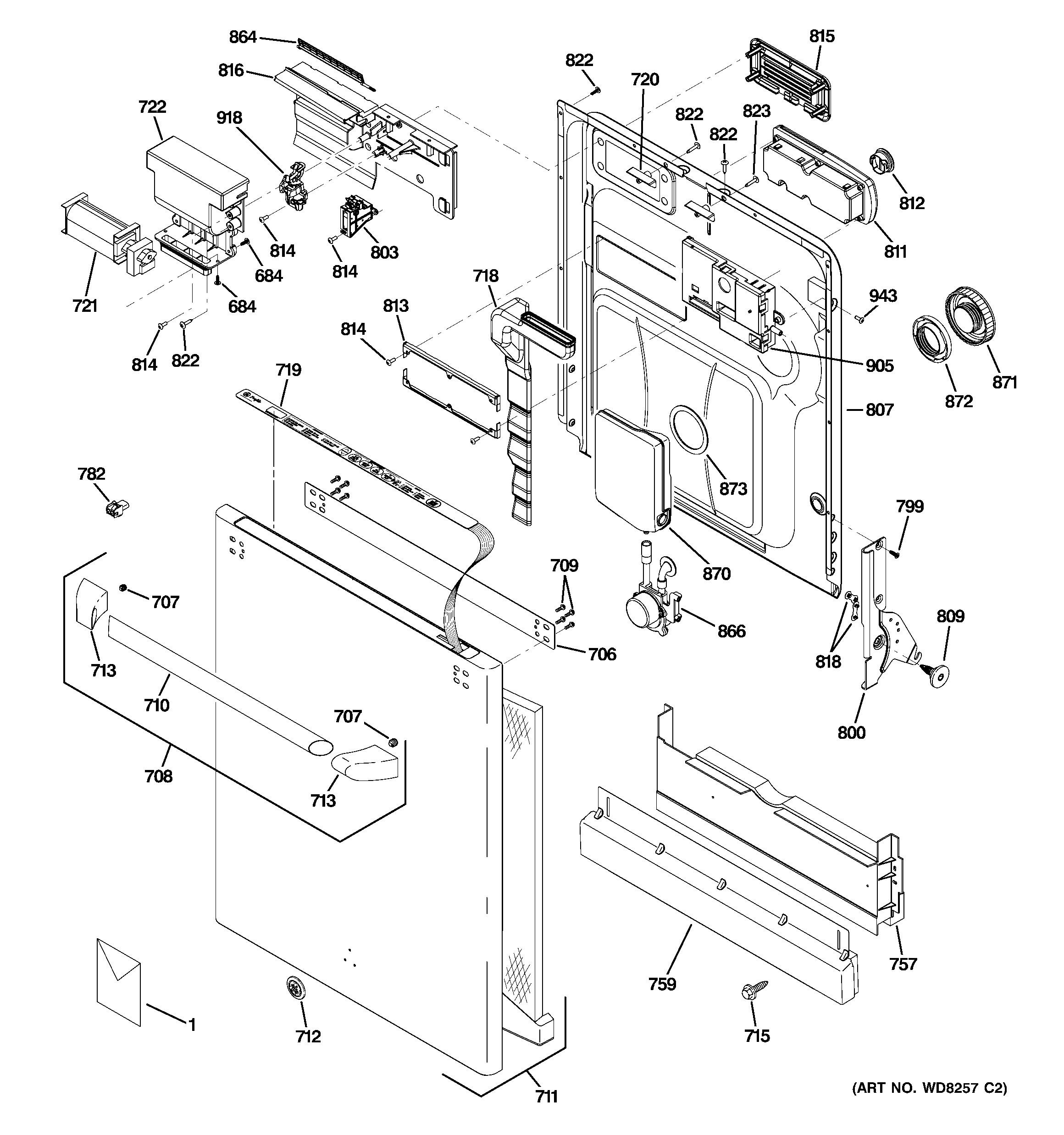 Ge Quiet Power 3 Parts Diagram Ge Model Cdw9380n00ss Dishwasher Genuine Parts Of Ge Quiet Power 3 Parts Diagram