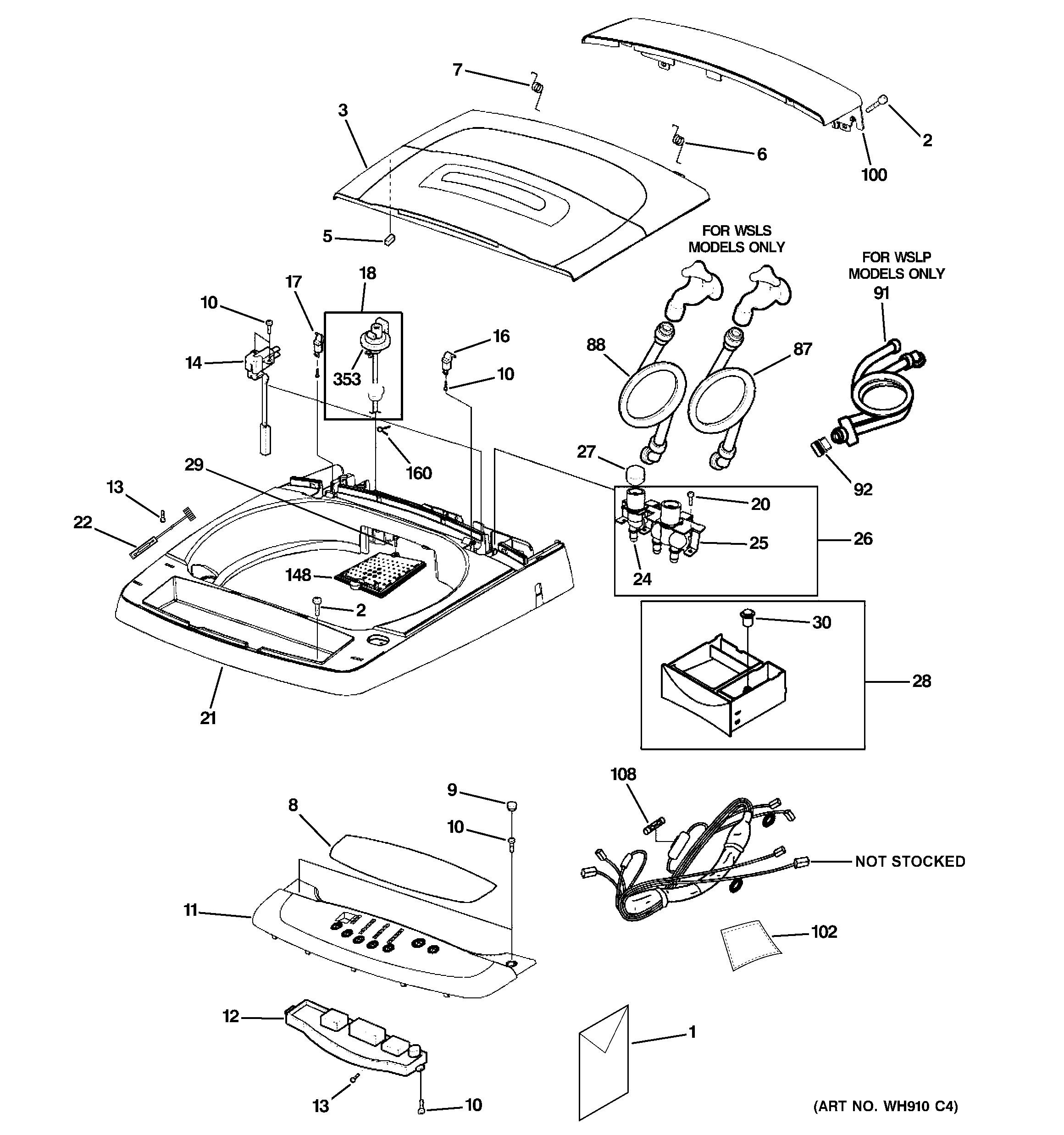 Ge Quiet Power 3 Parts Diagram Ge Washer Parts Model Wslp1500j0ww Of Ge Quiet Power 3 Parts Diagram