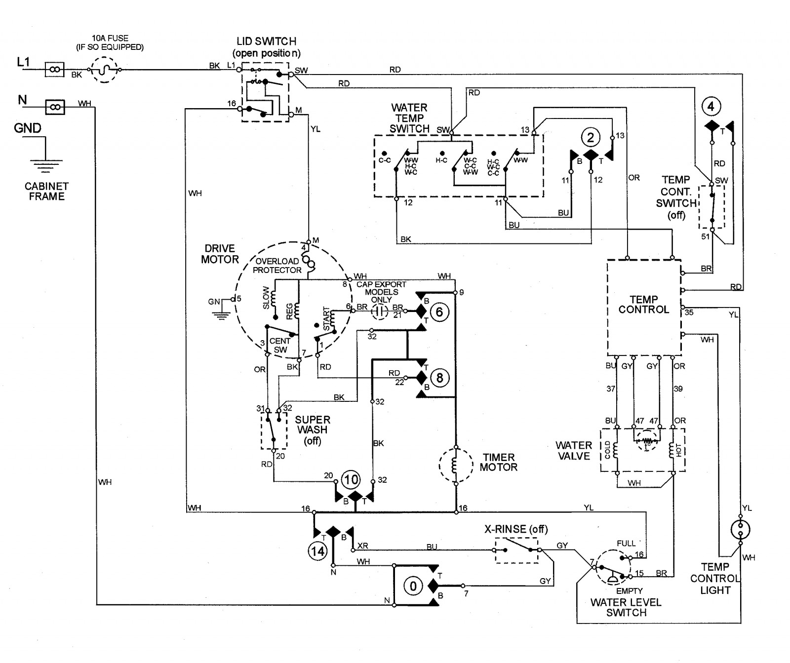 Ge Washer Motor Wiring Diagram In Addition Roper Electric Dryer Motors Diagrams General Induction Of