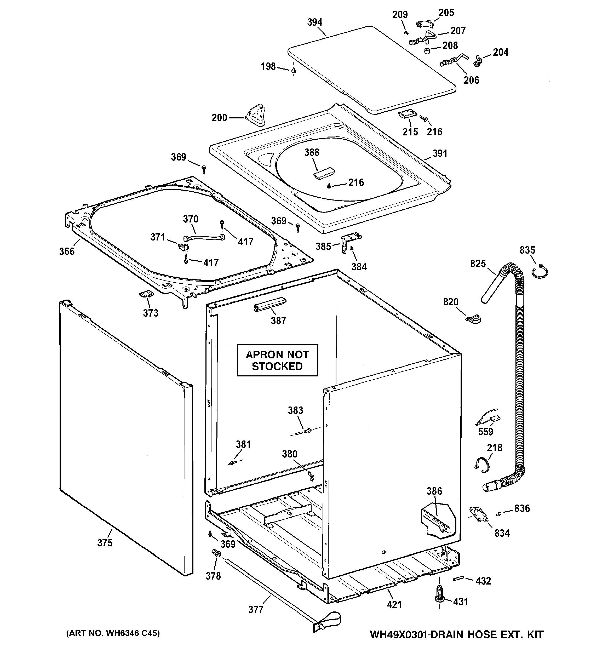 ge washing machine parts diagram