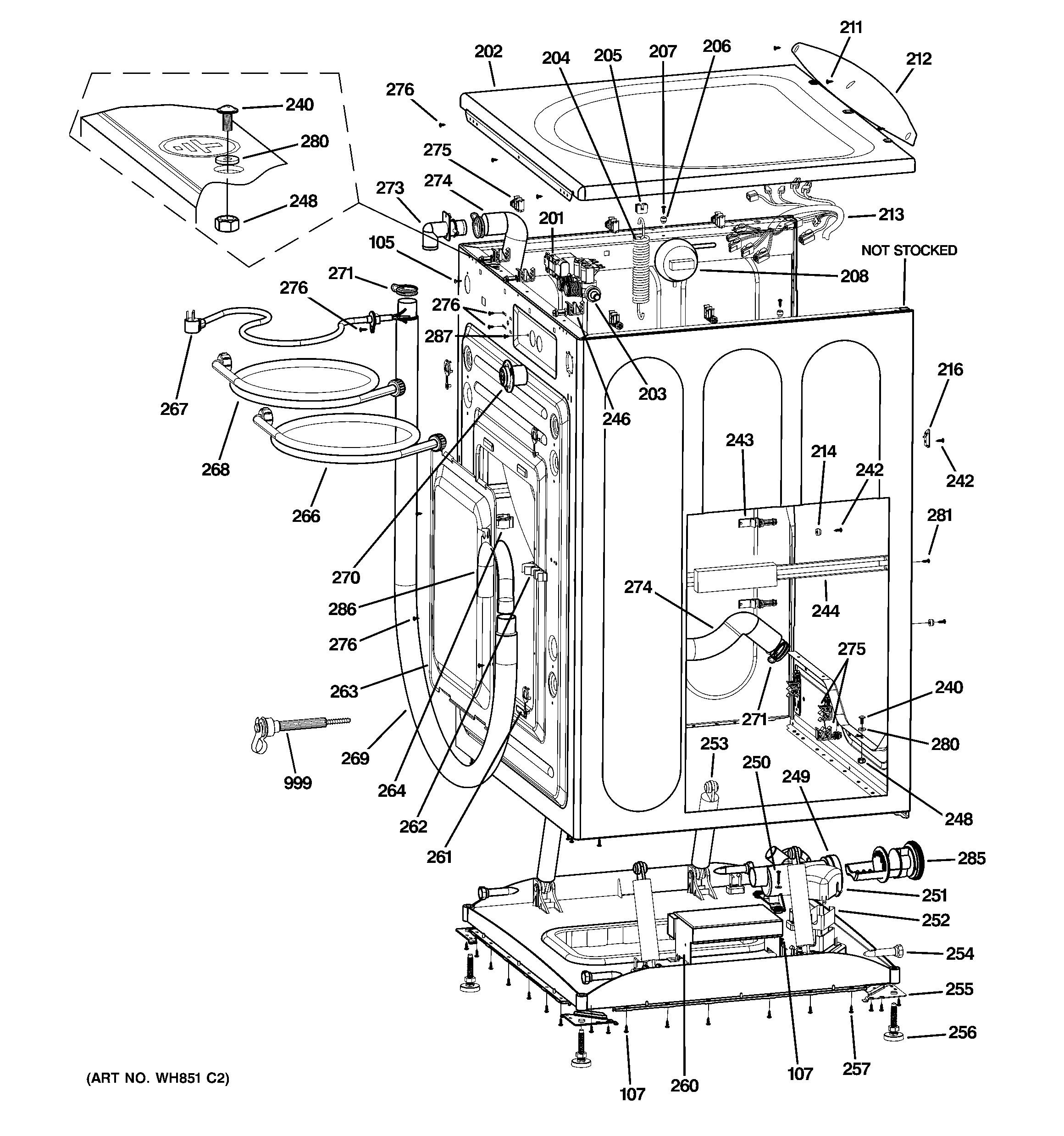 Ge Washing Machine Parts Diagram Ge Model Wcvh6800j0ww Residential Washers Genuine Parts Of Ge Washing Machine Parts Diagram