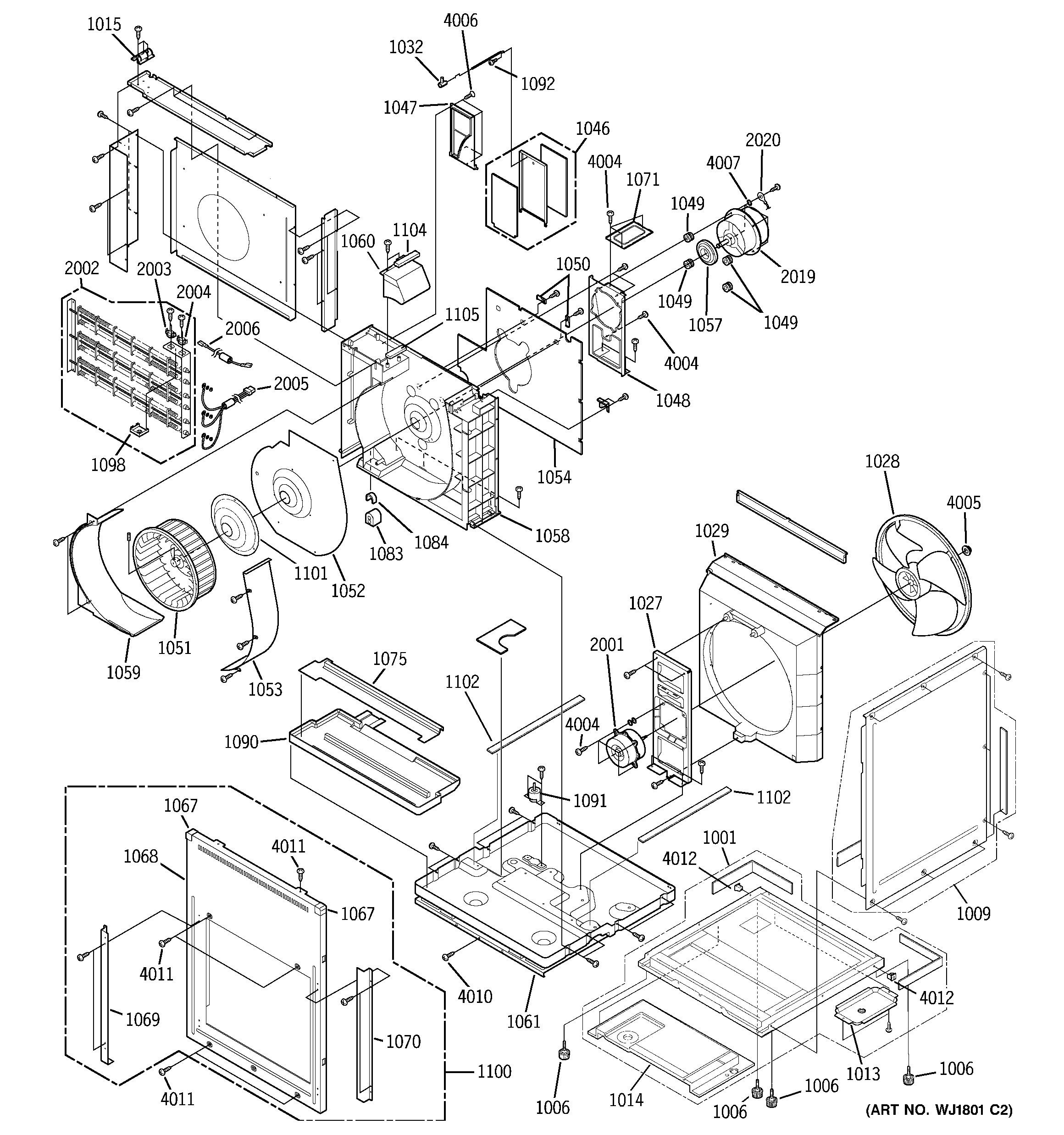 Ge Xl44 Parts Diagram Ge Model Az75e12dacm1 Package Units Both Units Bined Genuine Parts Of Ge Xl44 Parts Diagram