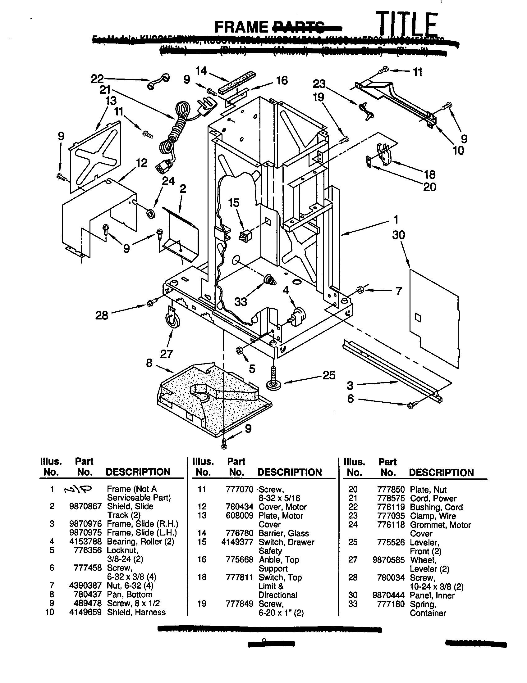 Ge Xl44 Parts Diagram Kitchenaid Model Kucc151ewh0 Pactors Genuine Parts Of Ge Xl44 Parts Diagram