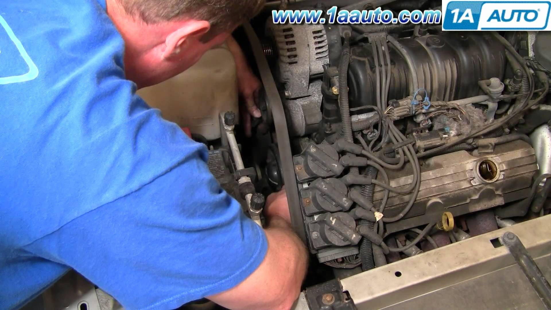 How To Install Repair Replace Serpentine Engine Belt Buick Lesabre 3 8L 00  05 1AAuto