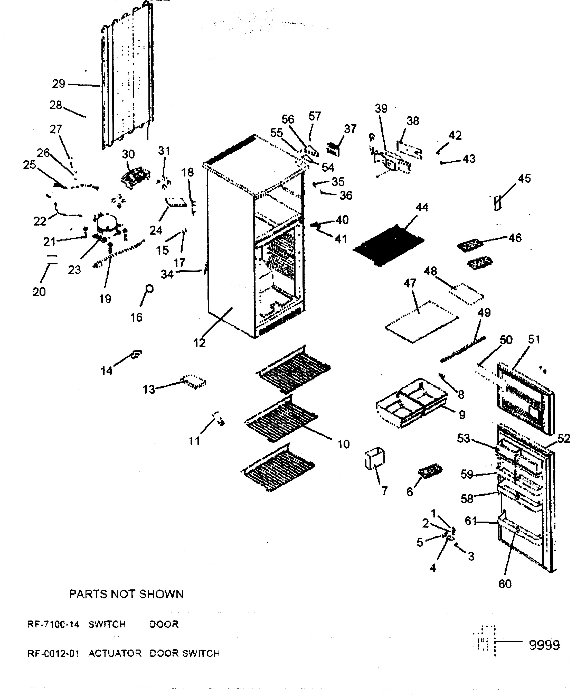 Haier Refrigerator Parts Diagram Haier Model Hde10wnaww top Mount Refrigerator Genuine Parts Of Haier Refrigerator Parts Diagram