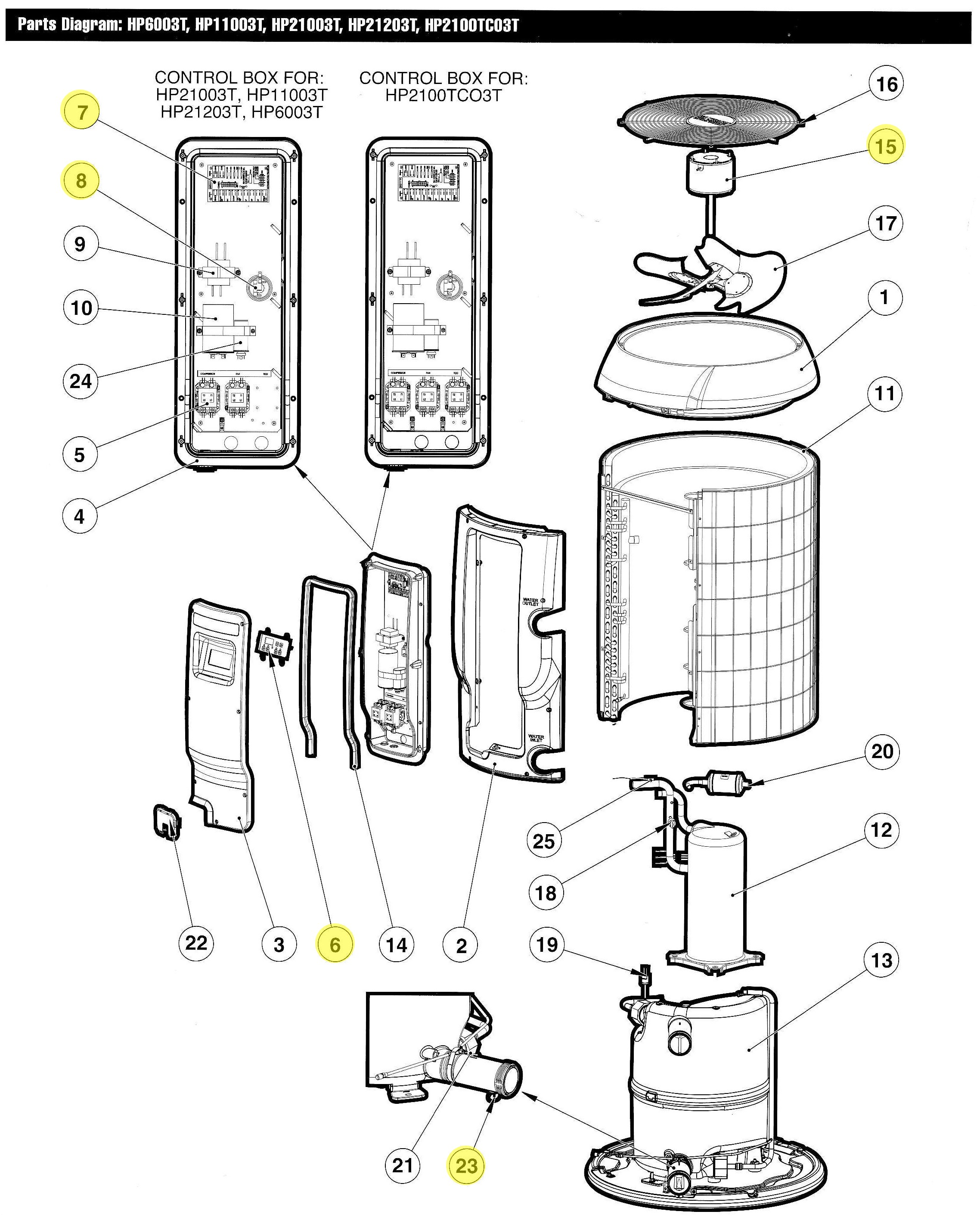 hayward pool filter parts diagram