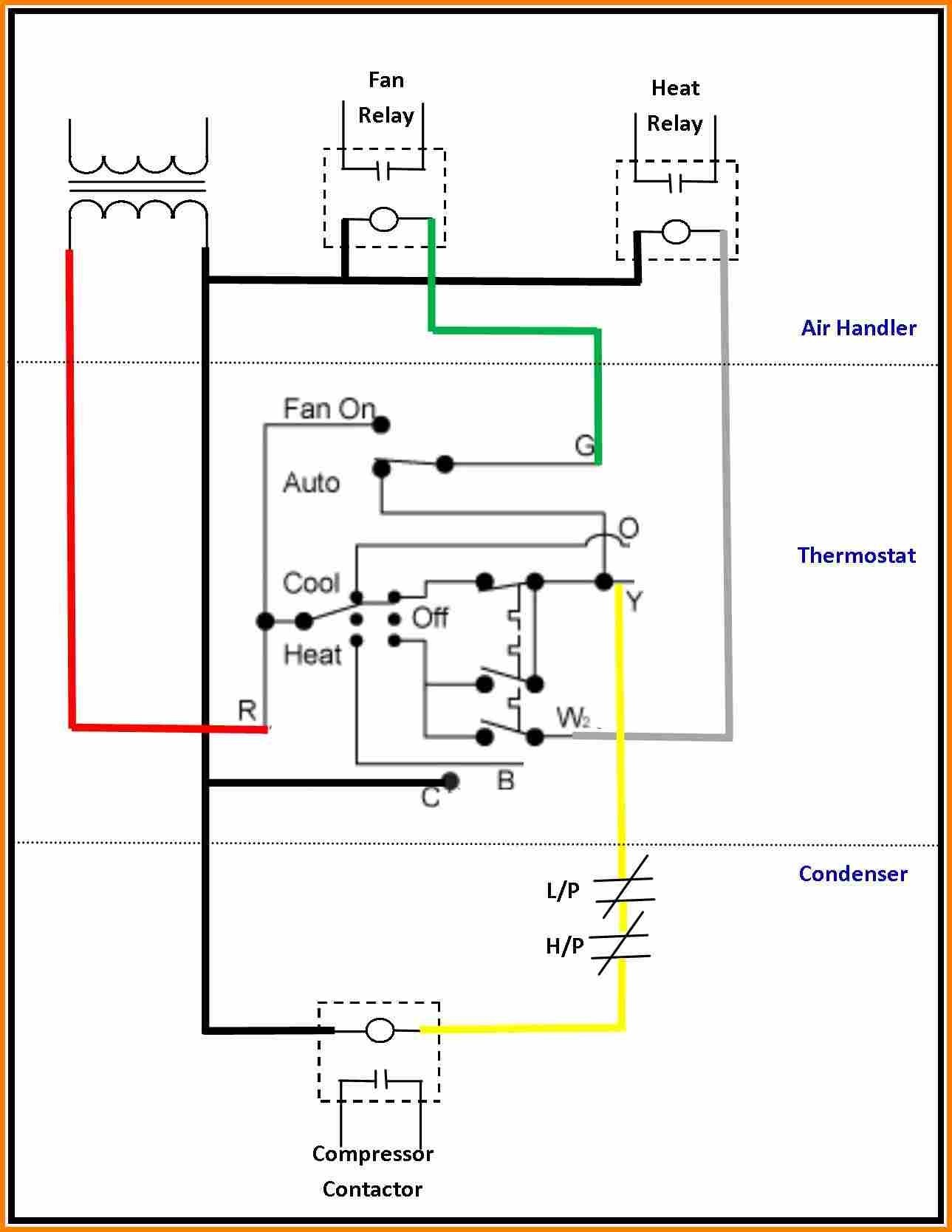 Heating and Cooling thermostat Wiring Diagram thermostat Wiring Diagram Wiring Diagrams