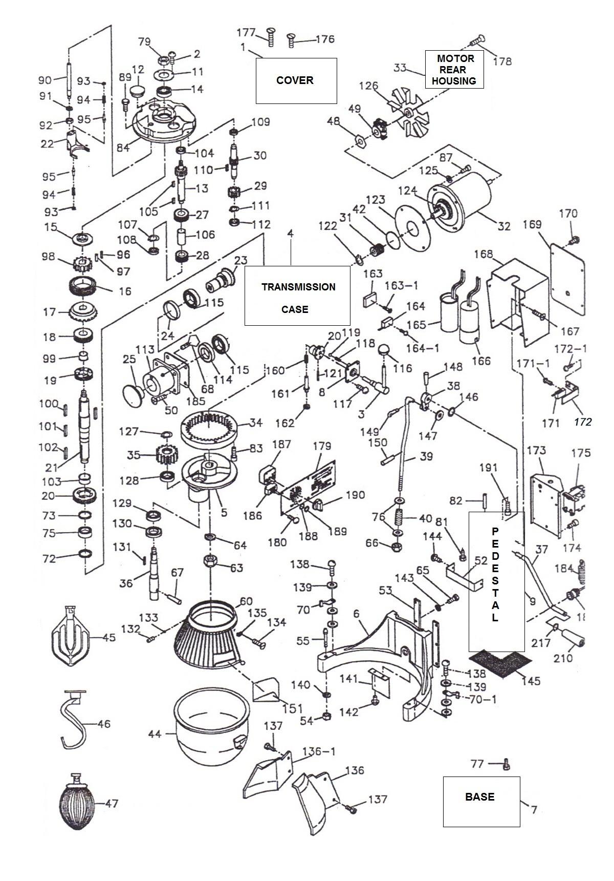 Hobart Mixer Parts Diagram