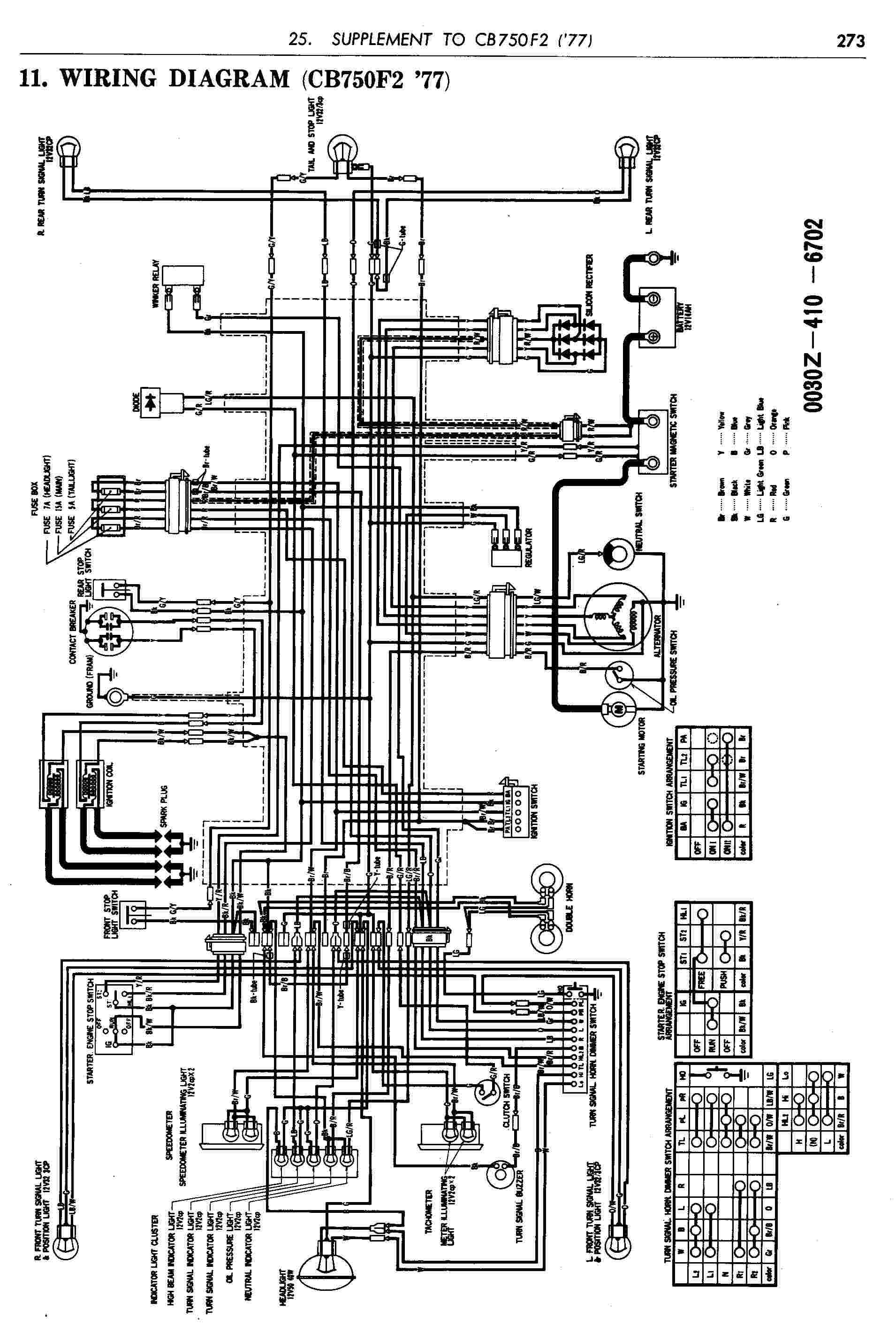 Honda Cb750 Engine Diagram Simple Motorcycle Wiring For Chopper Cb750k2 Of