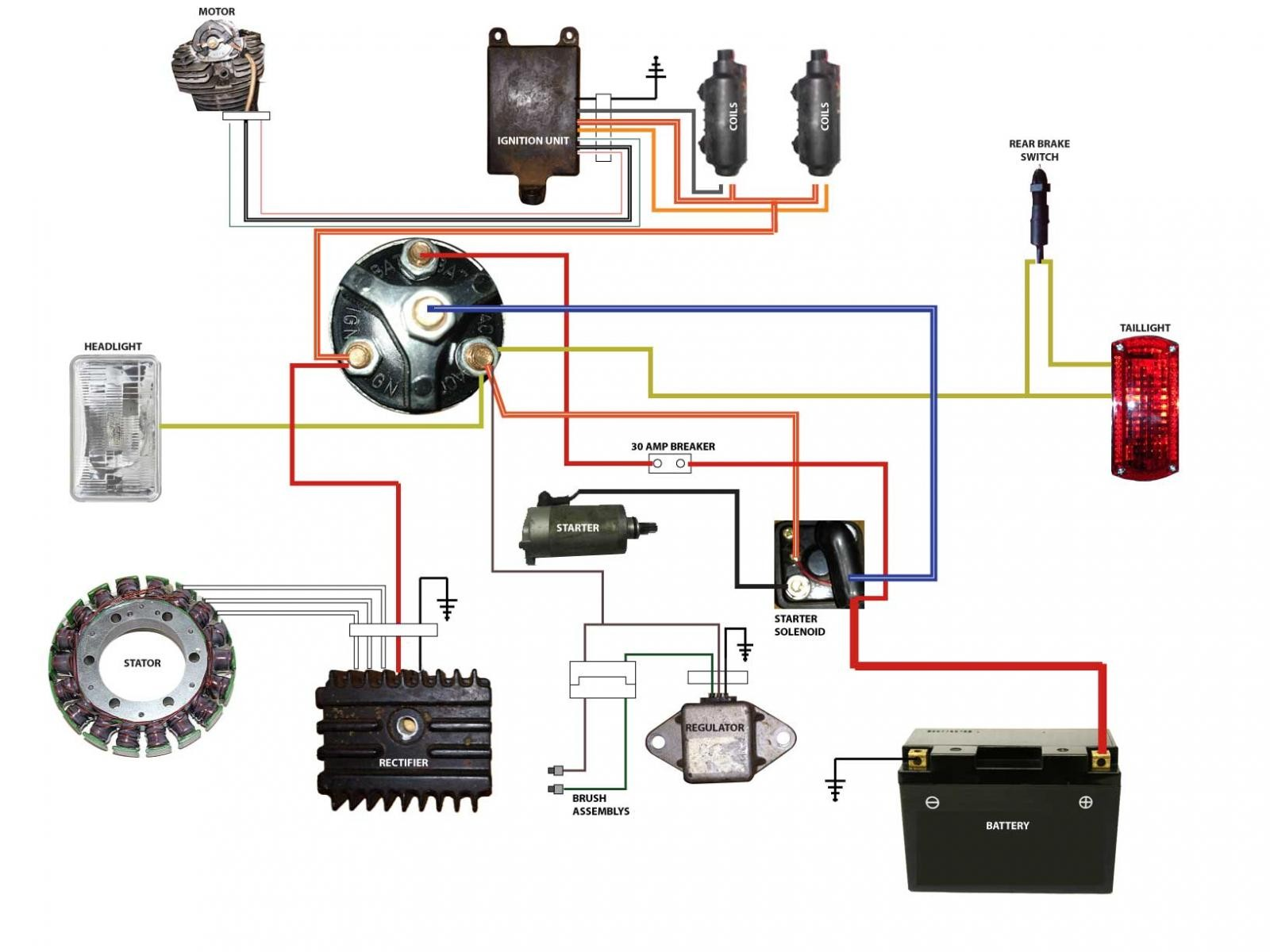 Simplified Wiring Diagram Honda Cb750 | Diagram