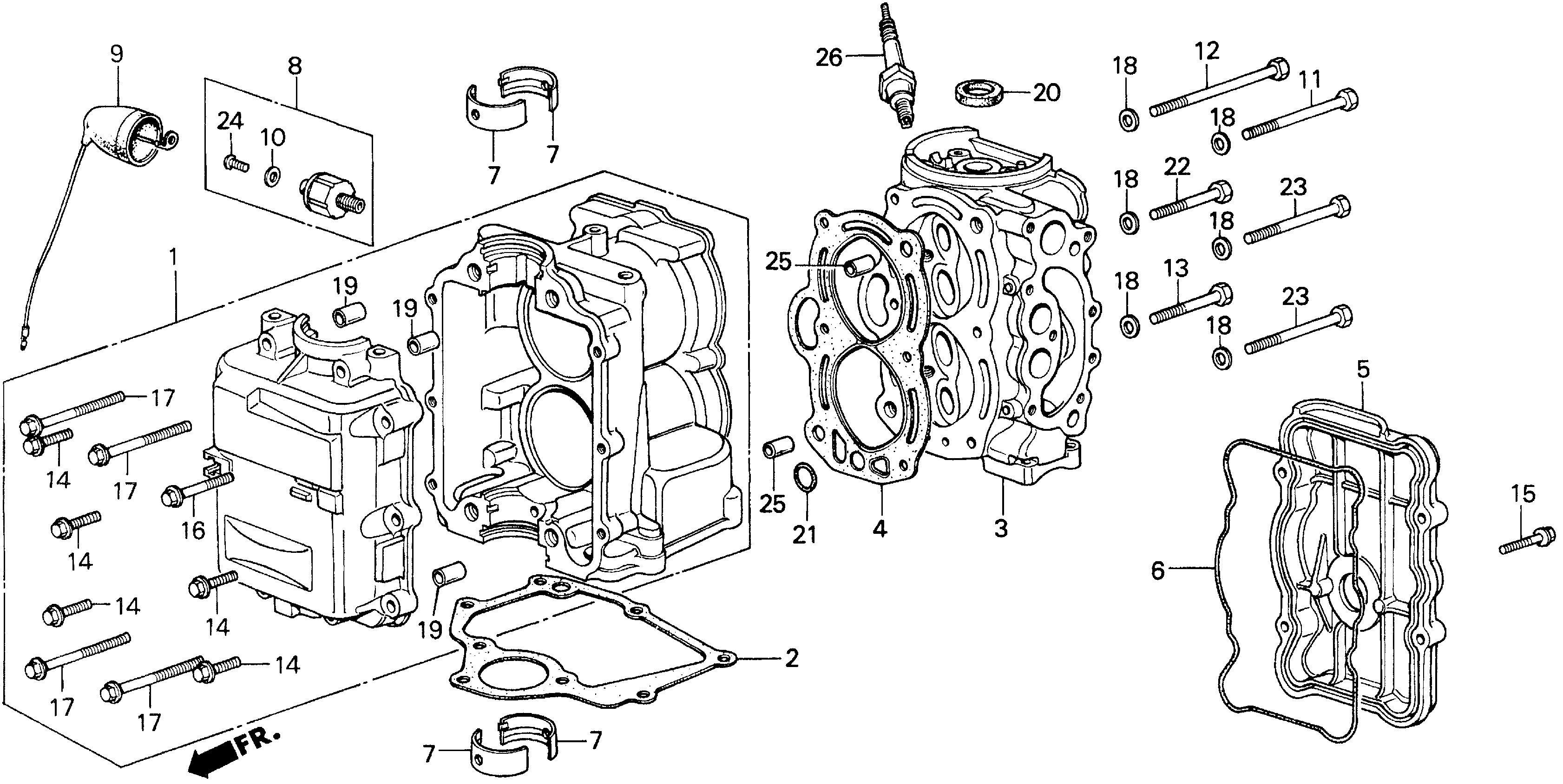 honda engine parts diagram