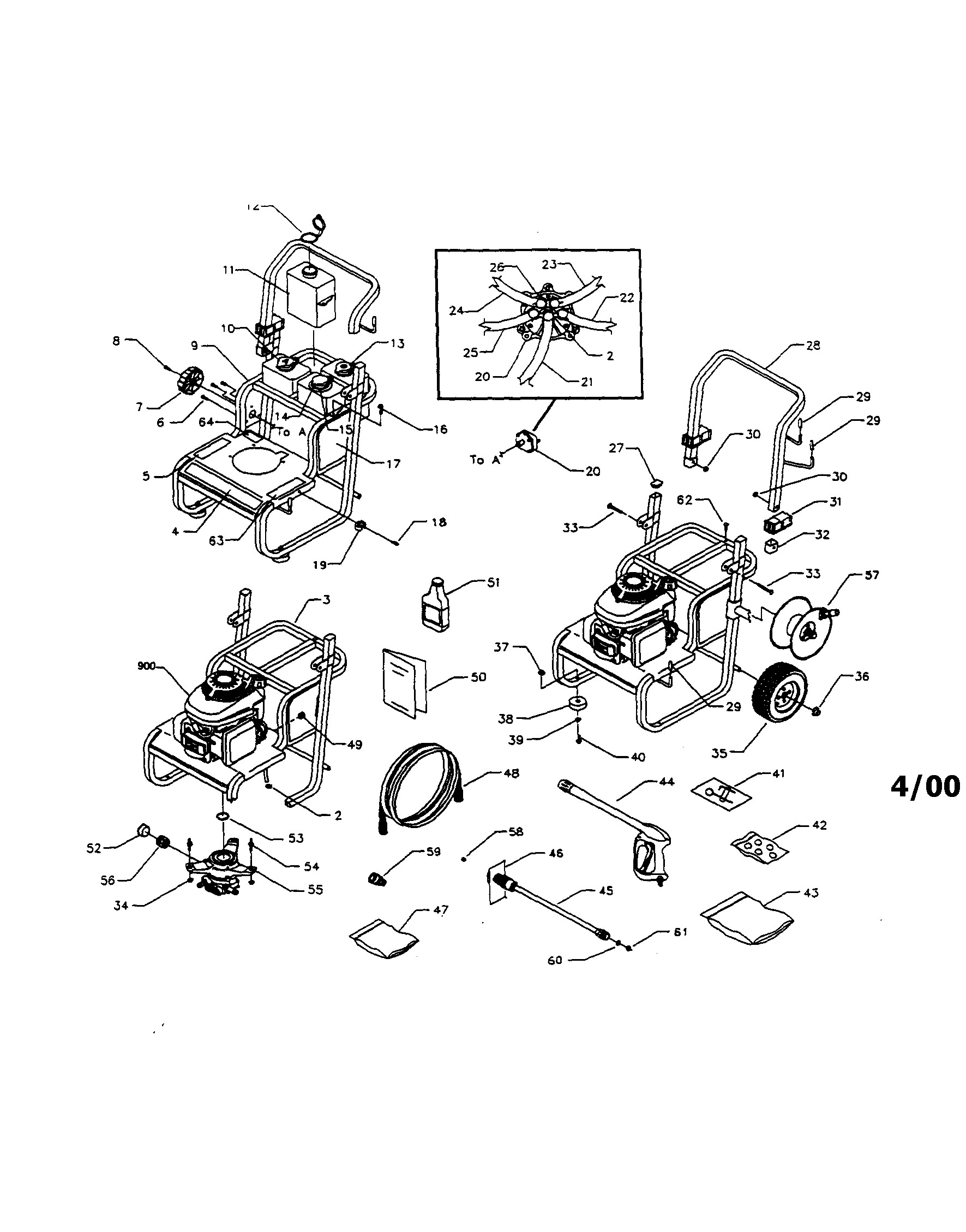 honda gc160 parts diagram craftsman model power washer gas