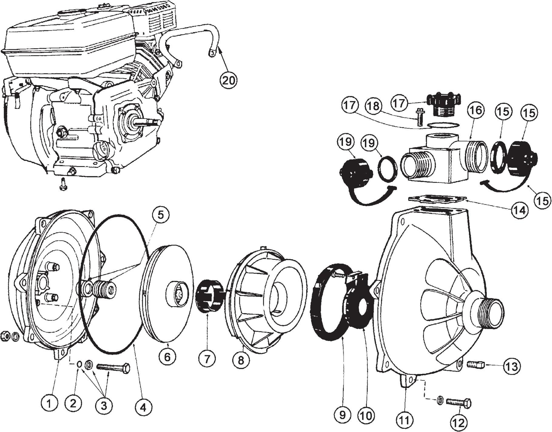 Honda Gc160 Parts Diagram Davey 931 Pump Spares Breakdown Bidgee Pumps & Irrigation Your Of Honda Gc160 Parts Diagram