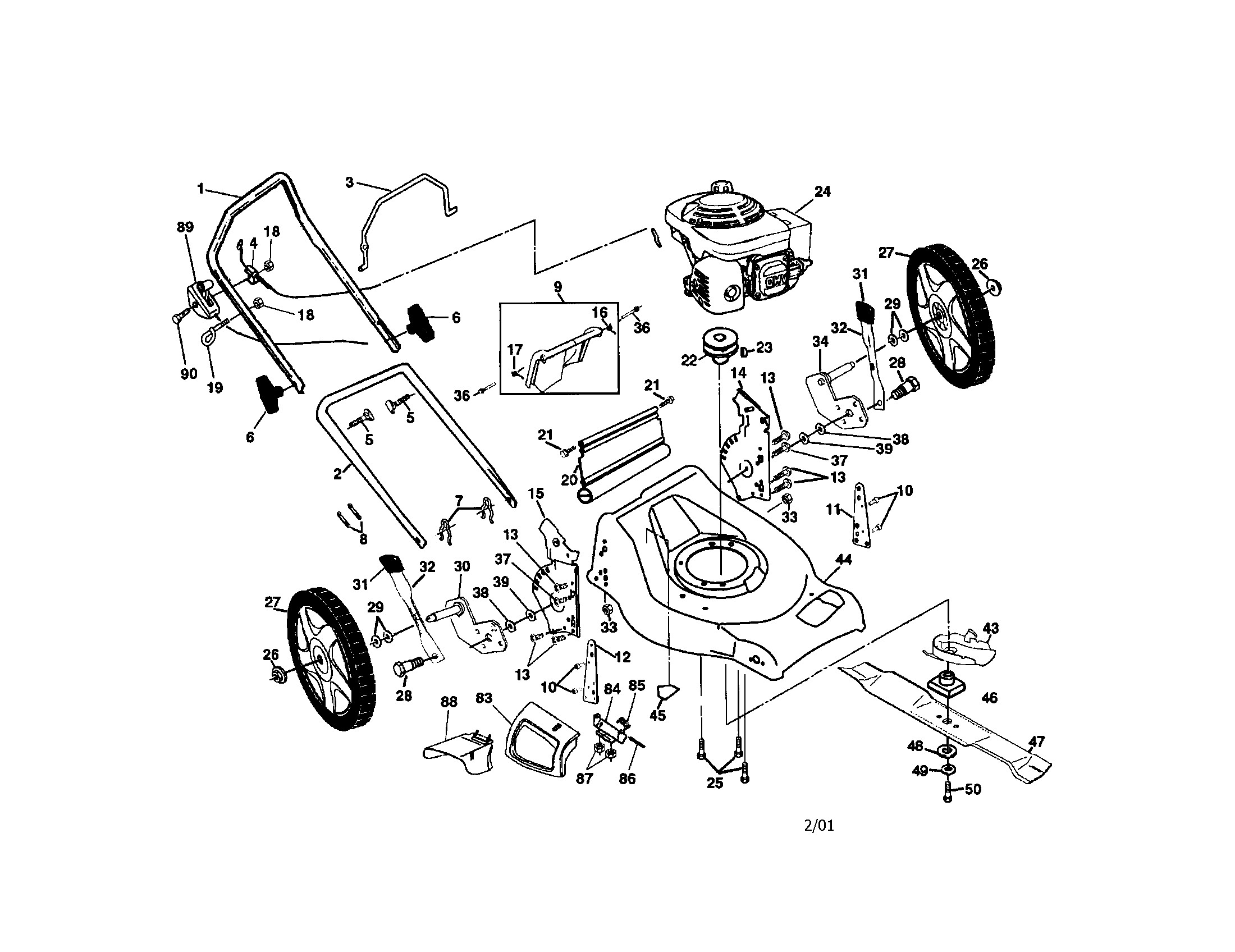Honda Gcv160 Engine Diagram Poulan Model Pr55hy21ca Walk Behind Lawnmower Gas Genuine Parts Of Honda Gcv160 Engine Diagram