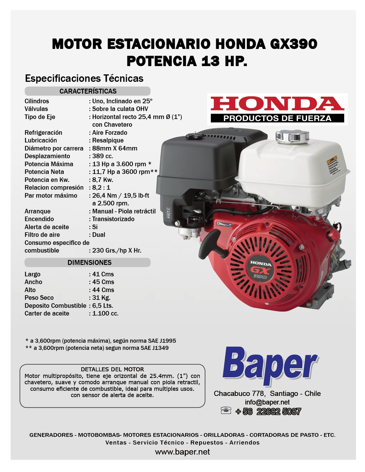 Honda Gx390 Parts Diagram Motor Estacionario Honda Bencinero Gx390 13hp Arranque Manual Baper Of Honda Gx390 Parts Diagram