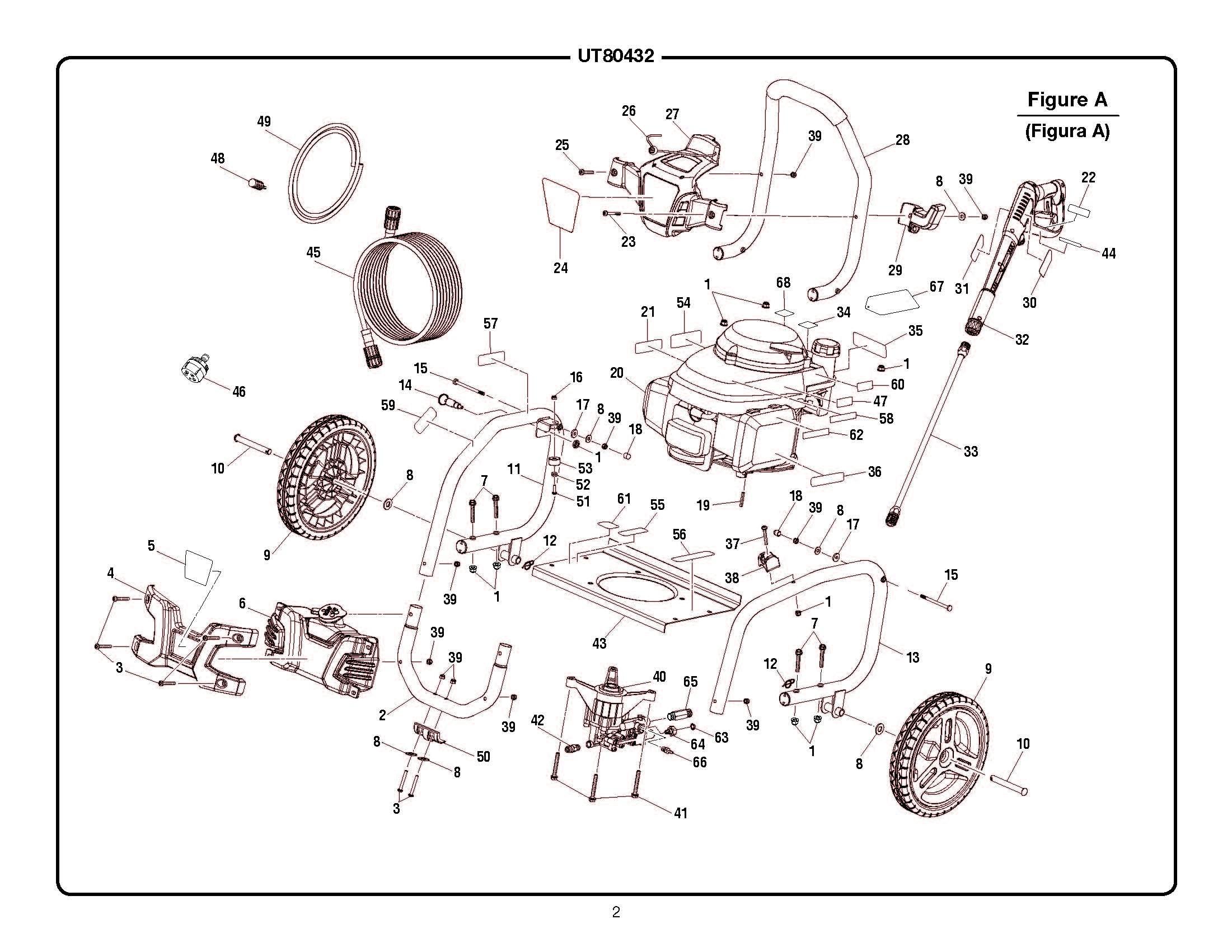 Honda Pressure Washer Parts Diagram Ut Homelite Pressure Washer Parts Homelite Parts Of Honda Pressure Washer Parts Diagram