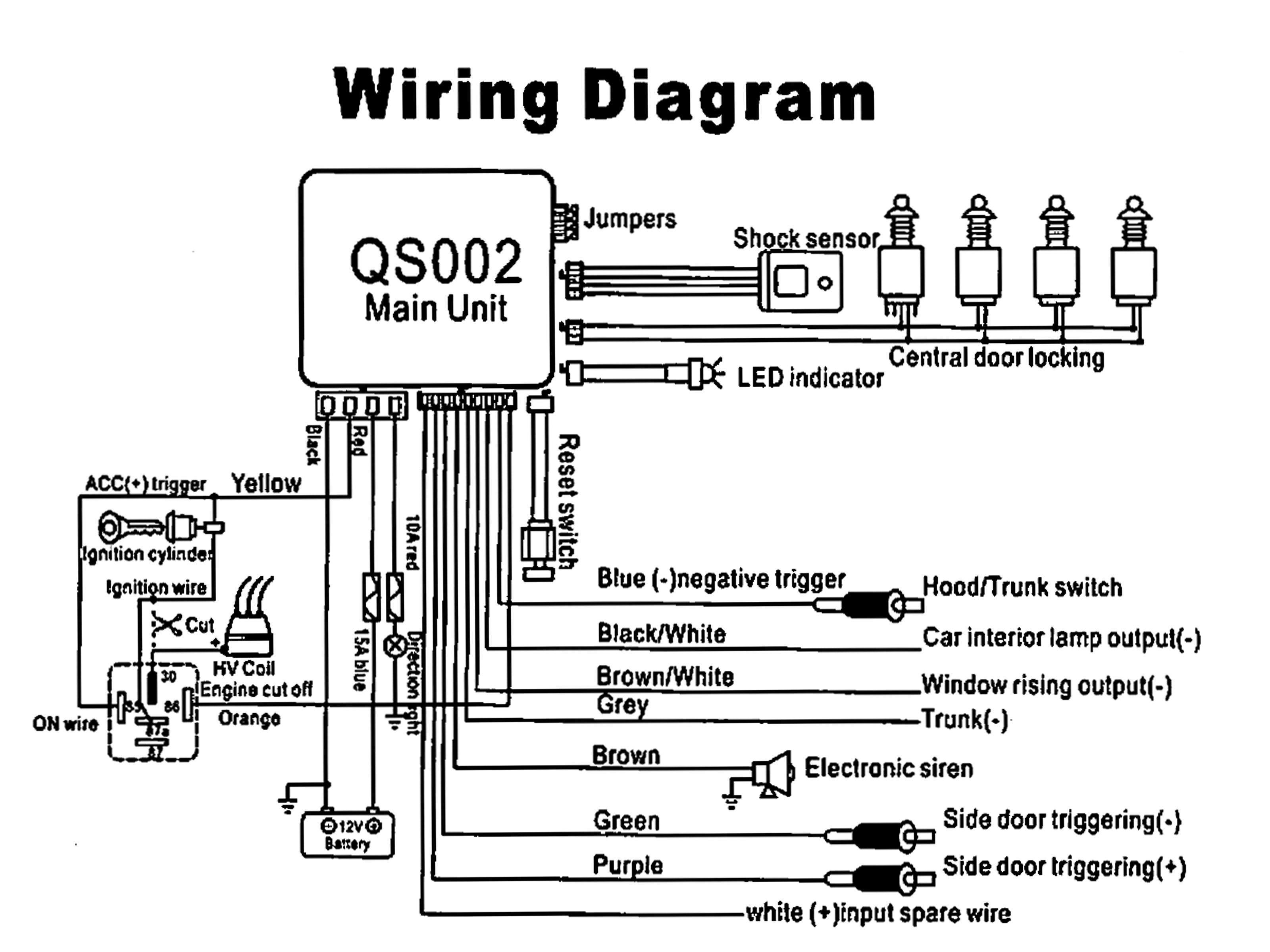 Car Security Wiring Diagram Will Be A Thing 2000 Gmc W4500 Heater Hornet Alarm And Bulldog