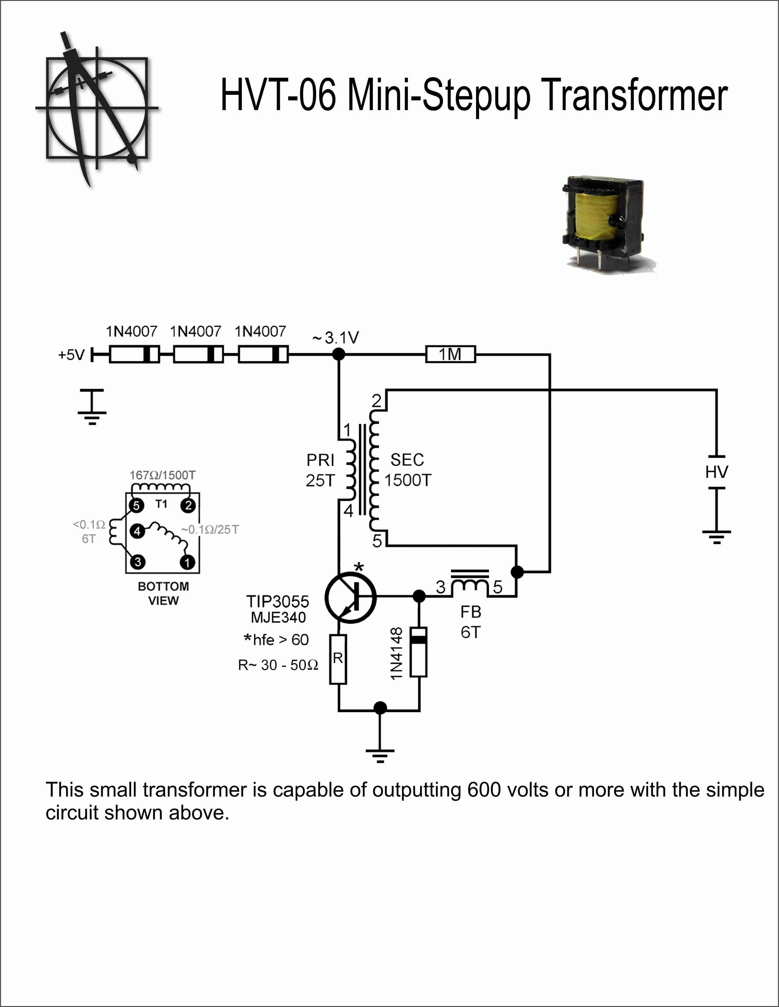 How to Wire A Transformer Diagram High Voltage Mini Step Up Transformer Wiring Diagram Ponents Of How to Wire A Transformer Diagram
