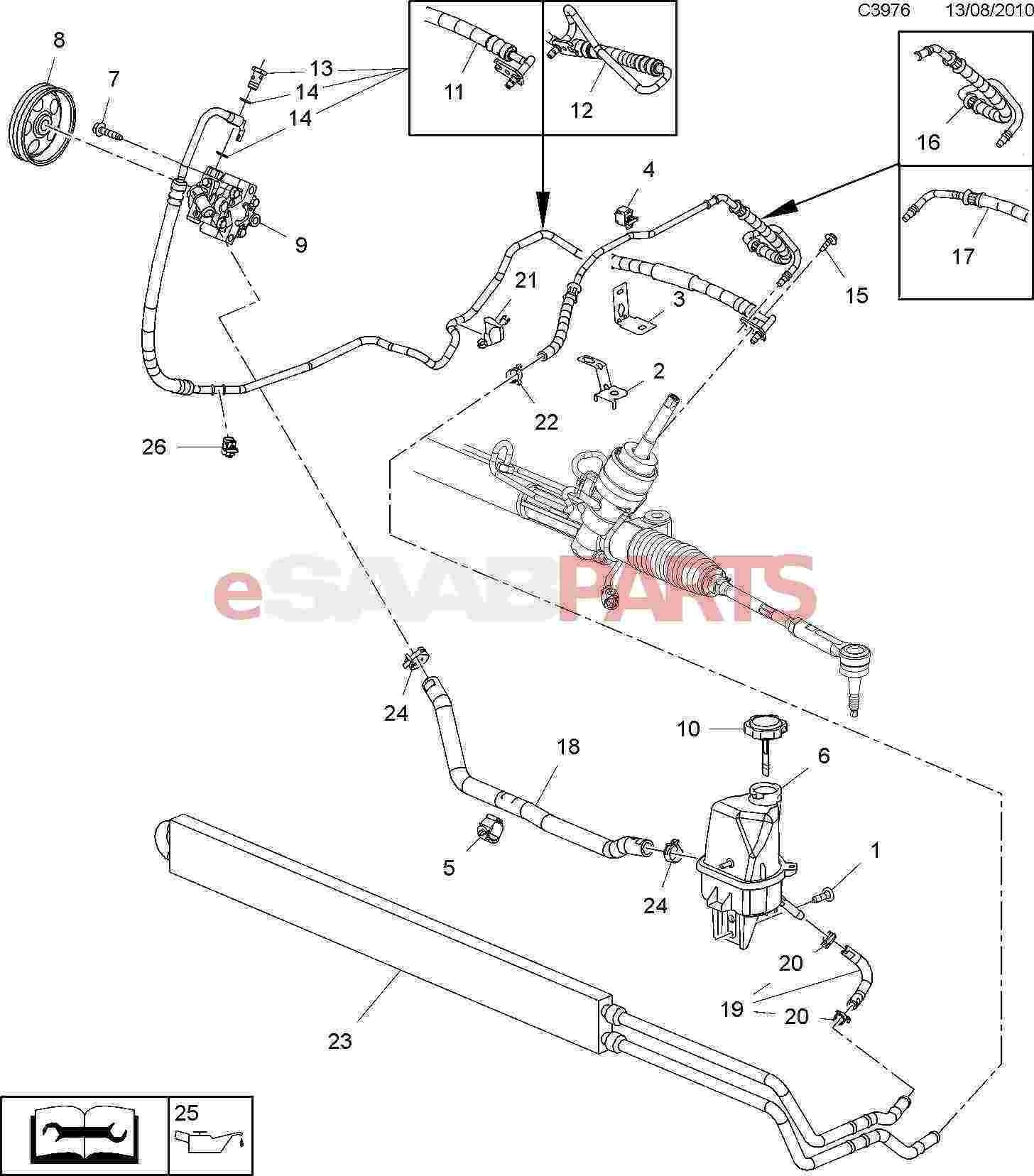 Hydraulic Steering Diagram 1956 1957 1958 Cadillac Power Steering