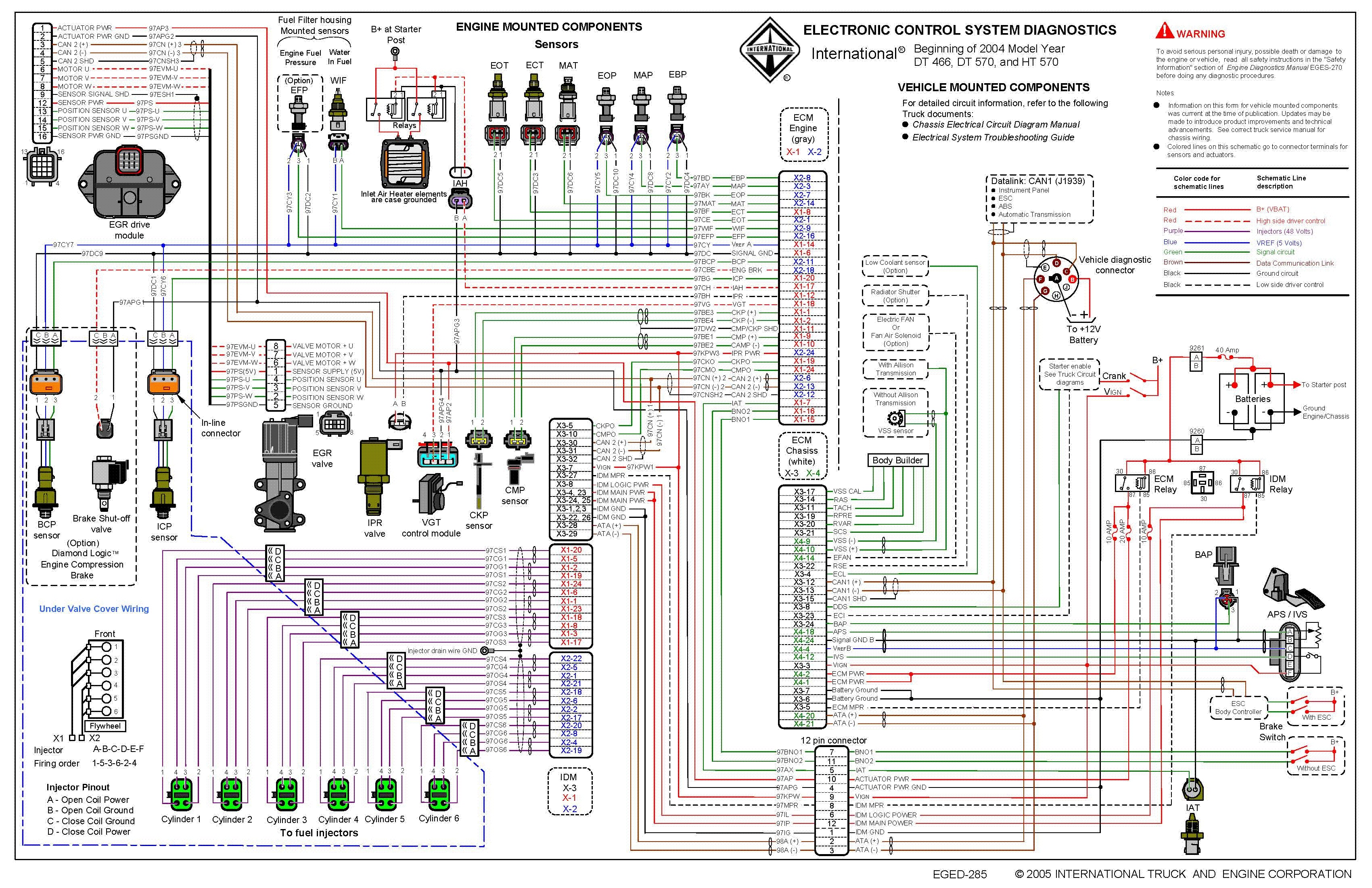 Navistar International Wiring Diagrams Vt365 - Wiring