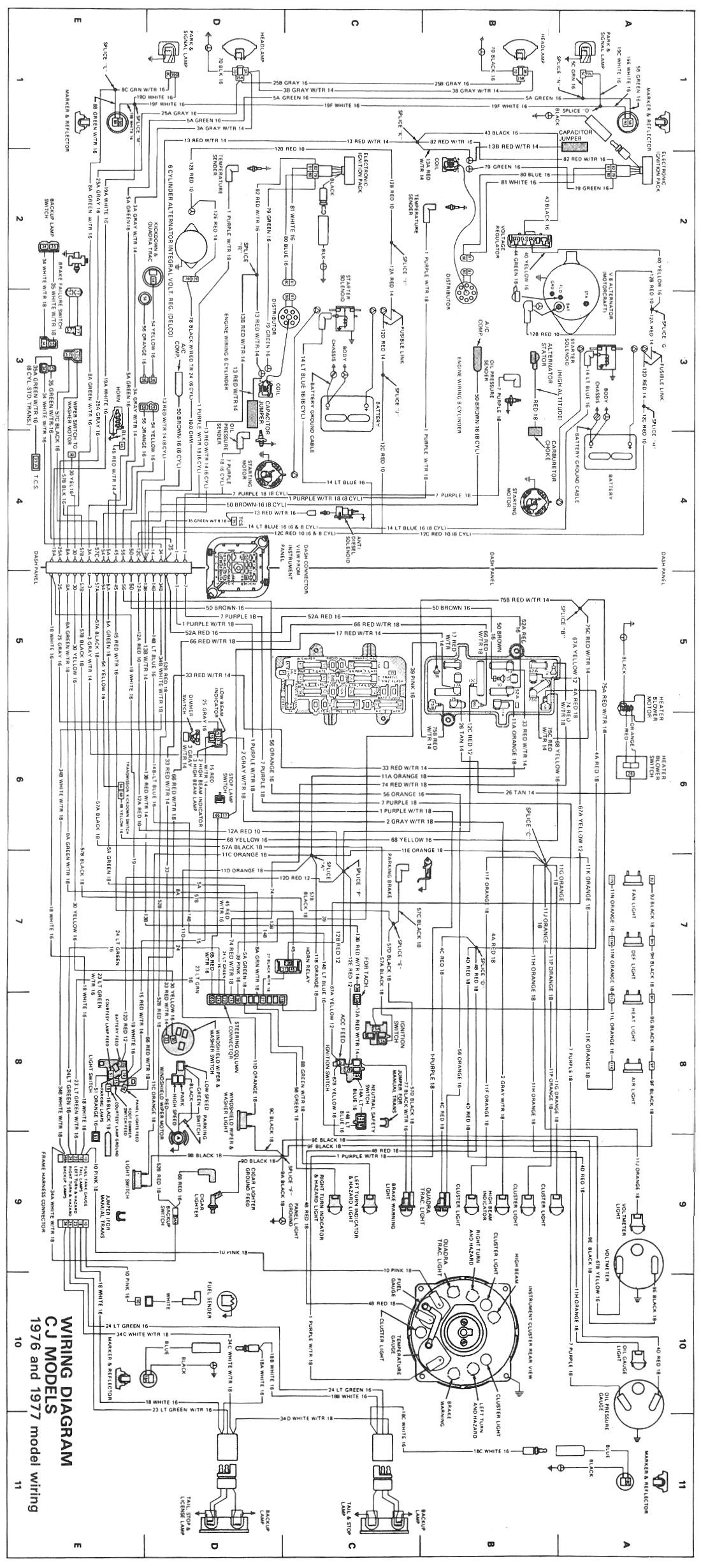 79 jeep cj7 wiring diagram detailed schematics diagram rh keyplusrubber com 79 jeep cj5 wiring diagram starter solenoid Jeep CJ5 Headlight Wiring Diagrams