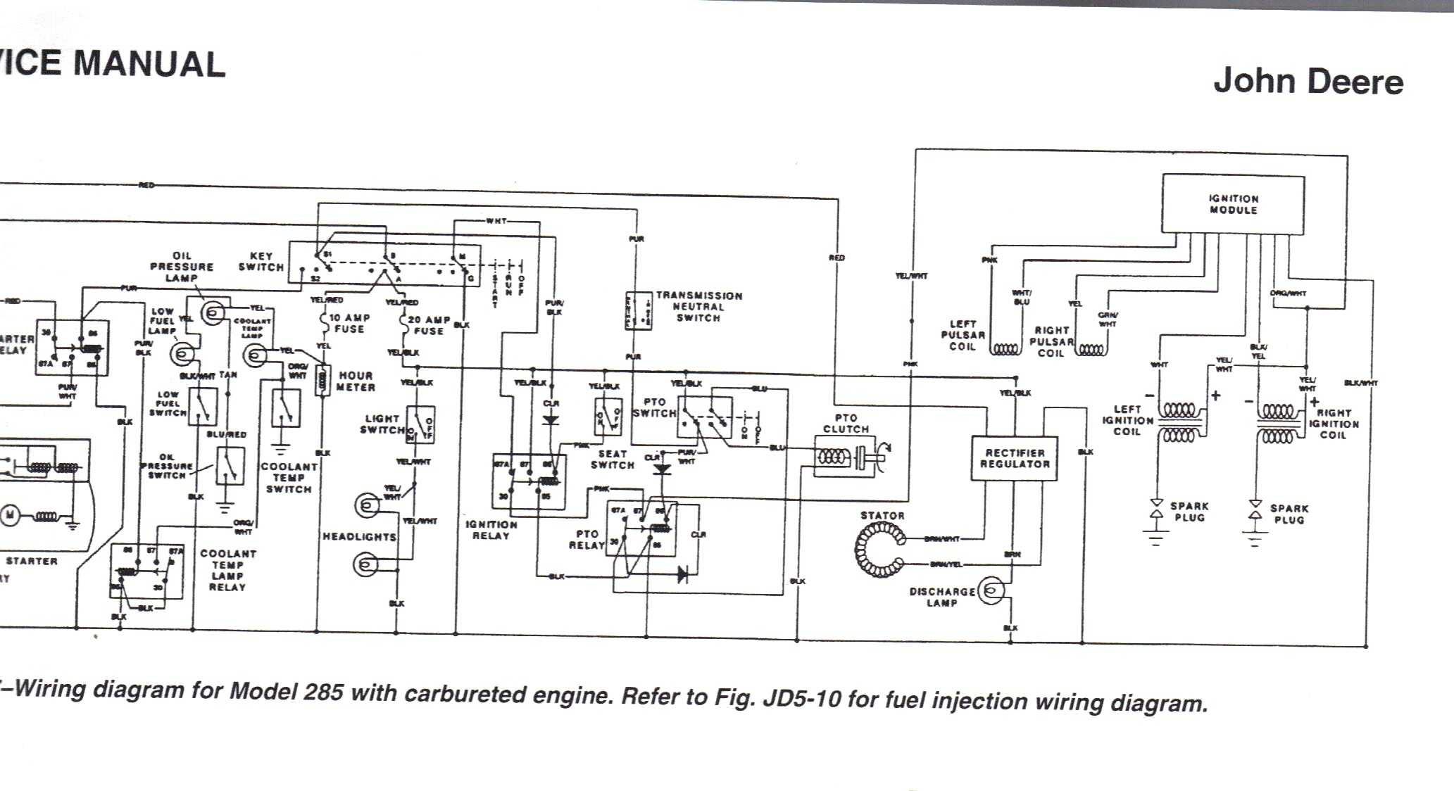 John Deere Model 1445 Wiring Diagram