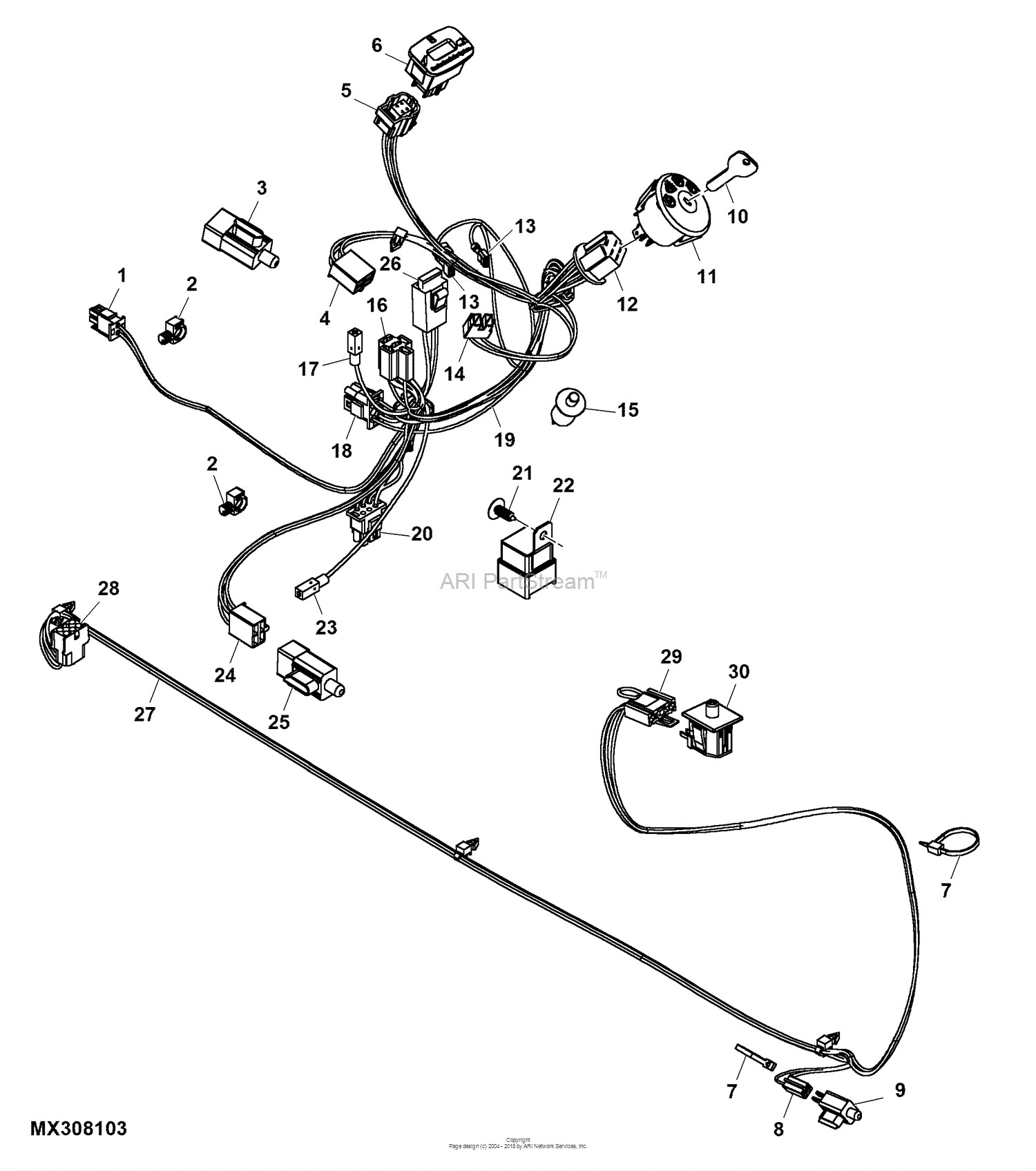 john deere la125 engine diagram john deere stx38 carb