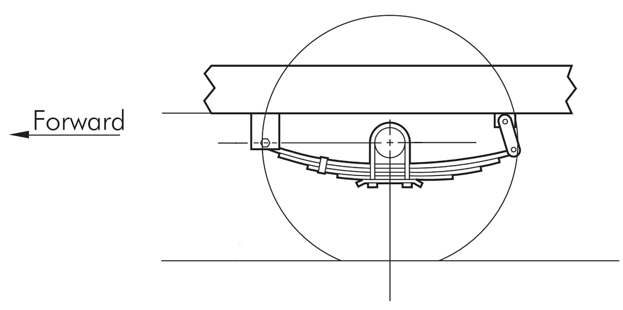 Leaf Spring assembly Diagram 25 1 4 Inch Double Eye 4 Leaf Spring 1750 Pound Capacity Of Leaf Spring assembly Diagram