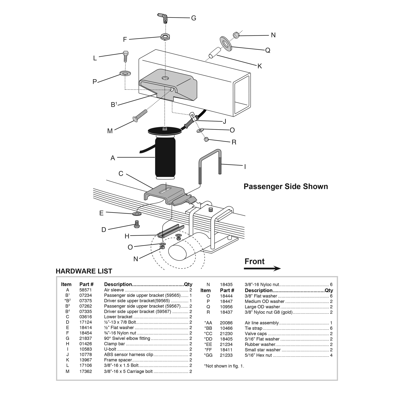 leaf spring assembly diagram
