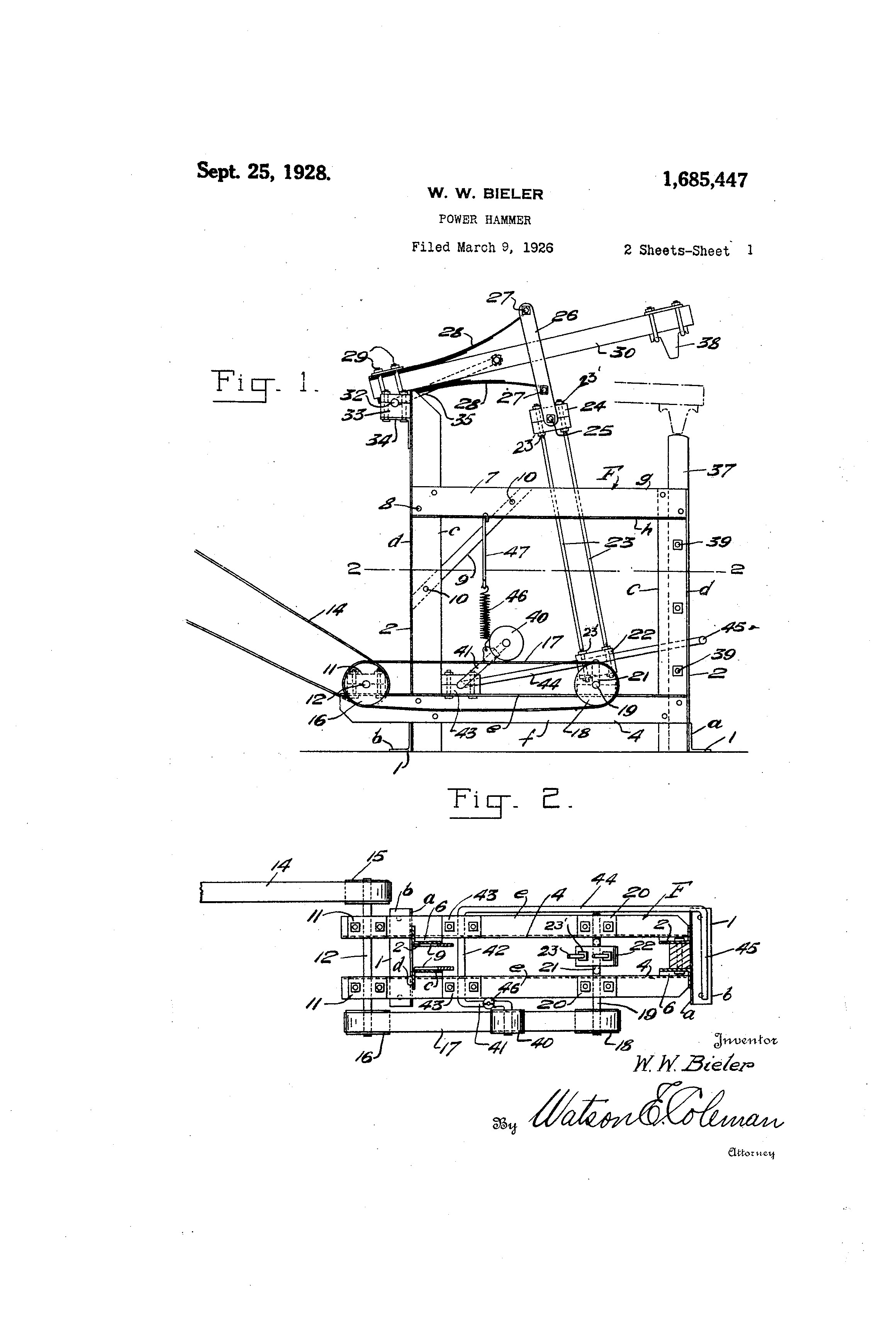 Leaf Spring Diagram Patent Us Power Hammer Google Patents Of Leaf Spring Diagram