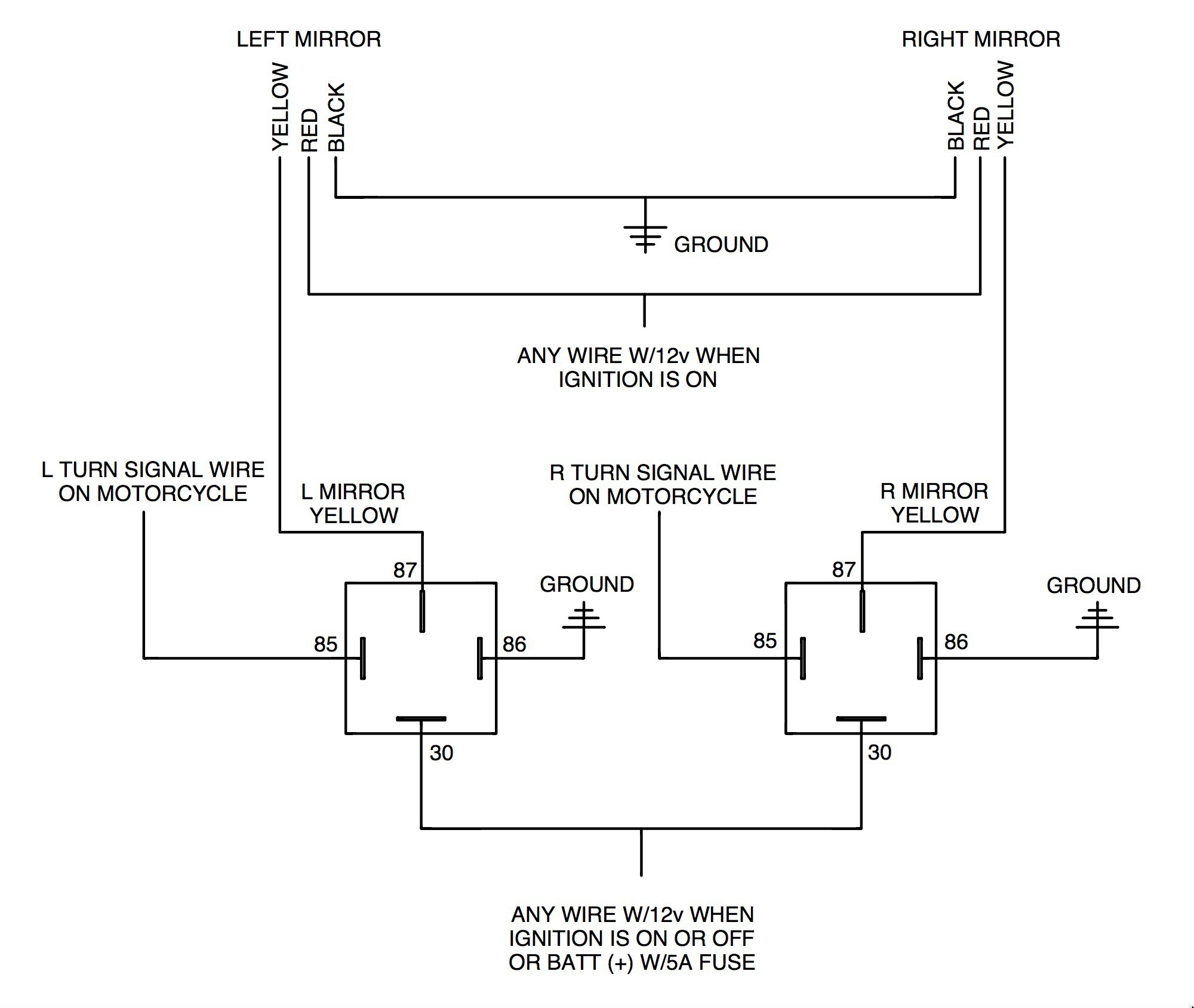 3 Wire Tail Light Wiring Diagram Motorcycle