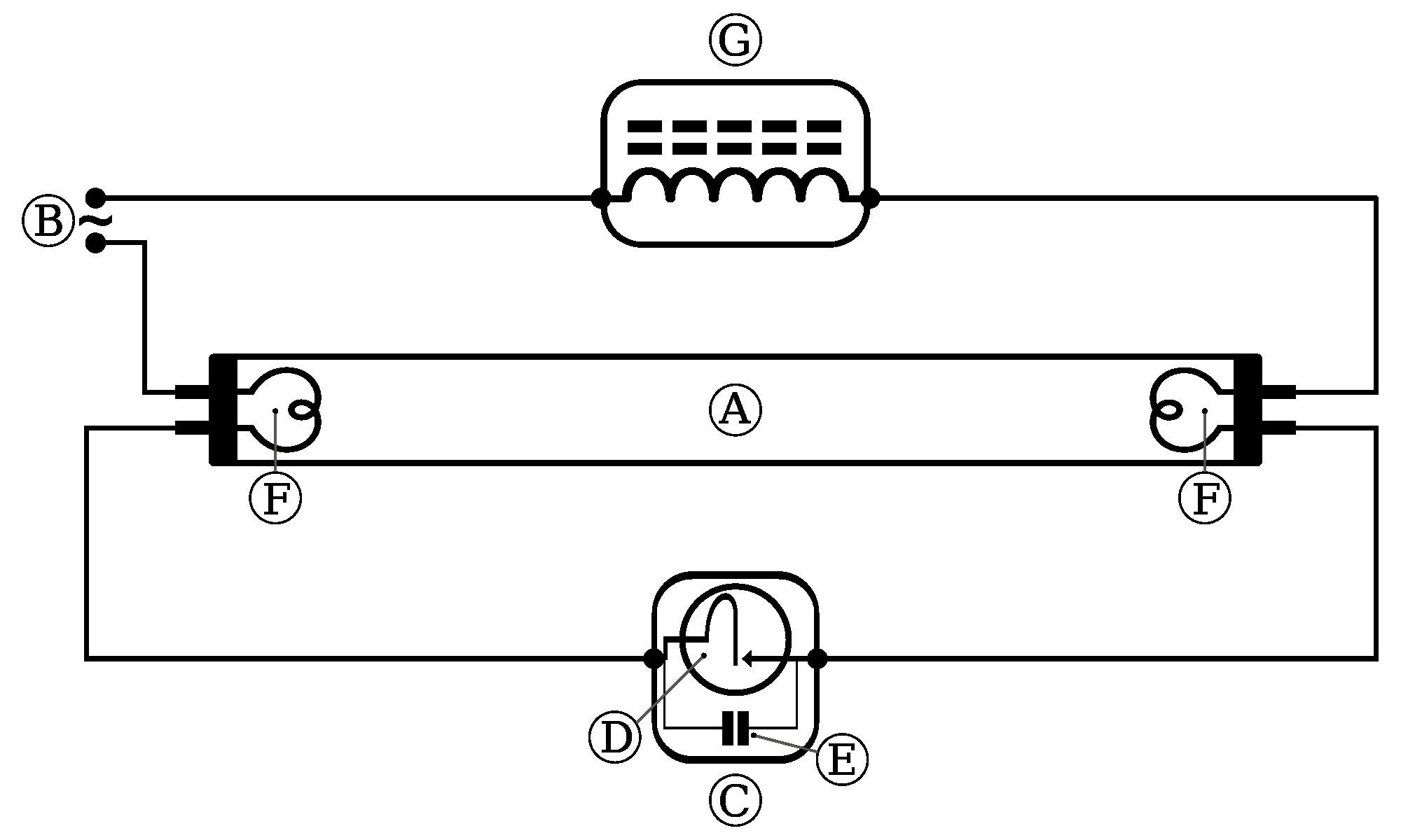 Led Tube Light Wiring Diagram Fluorescent Lamp Wiring Diagram Bright Bulb Afif Of Led Tube Light Wiring Diagram