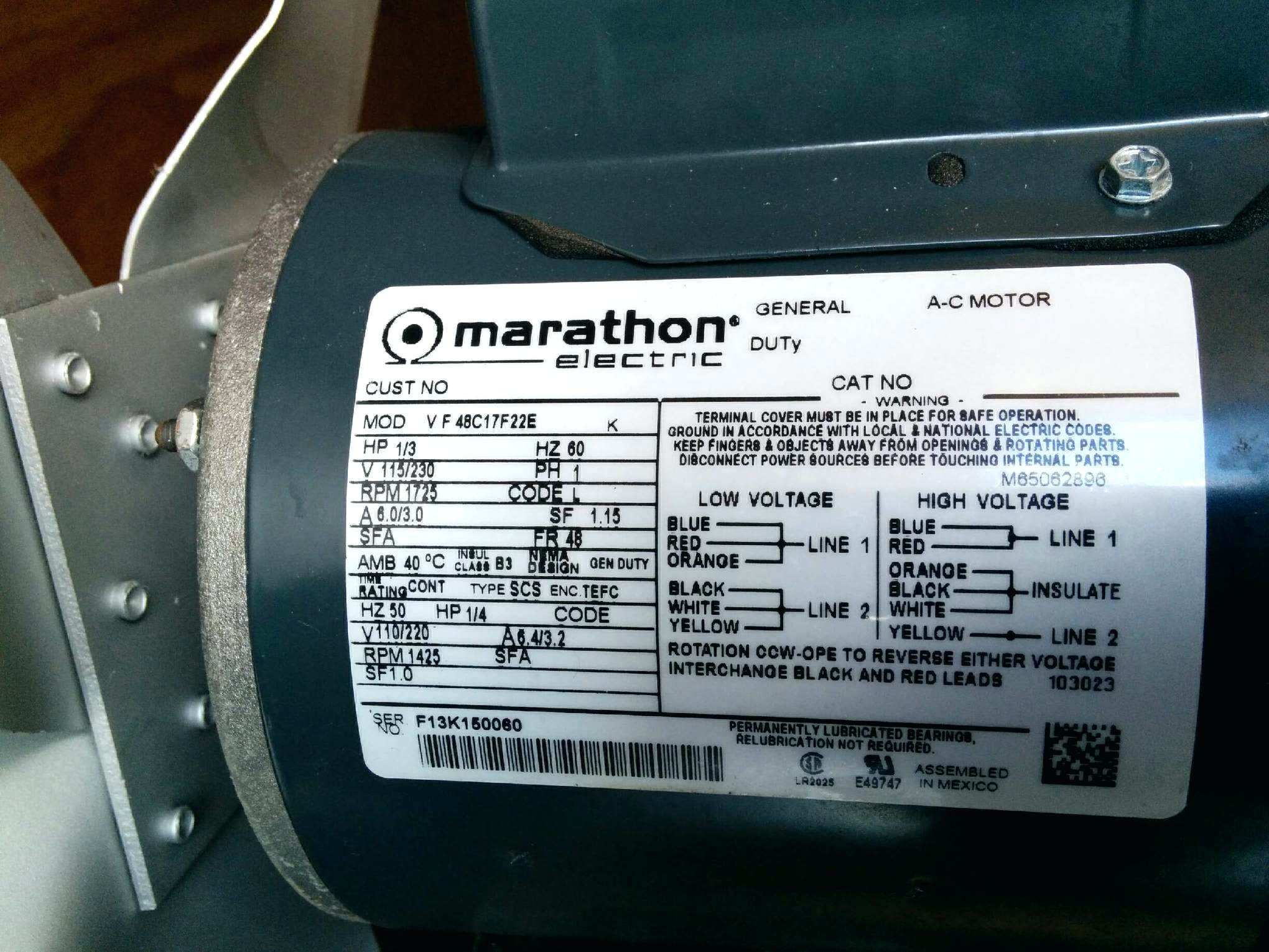 Marathon Motors Wiring Diagram Best Motor Capacitor Wiring Diagram ...