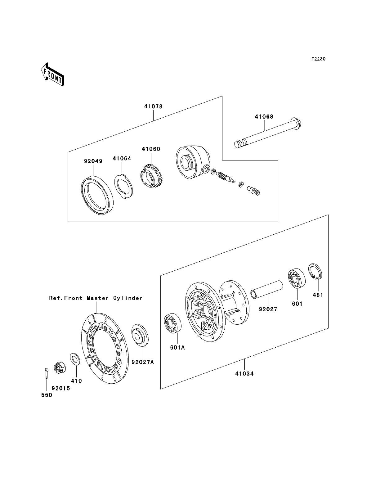 master cylinder parts diagram kawasaki klr250 kawasaki