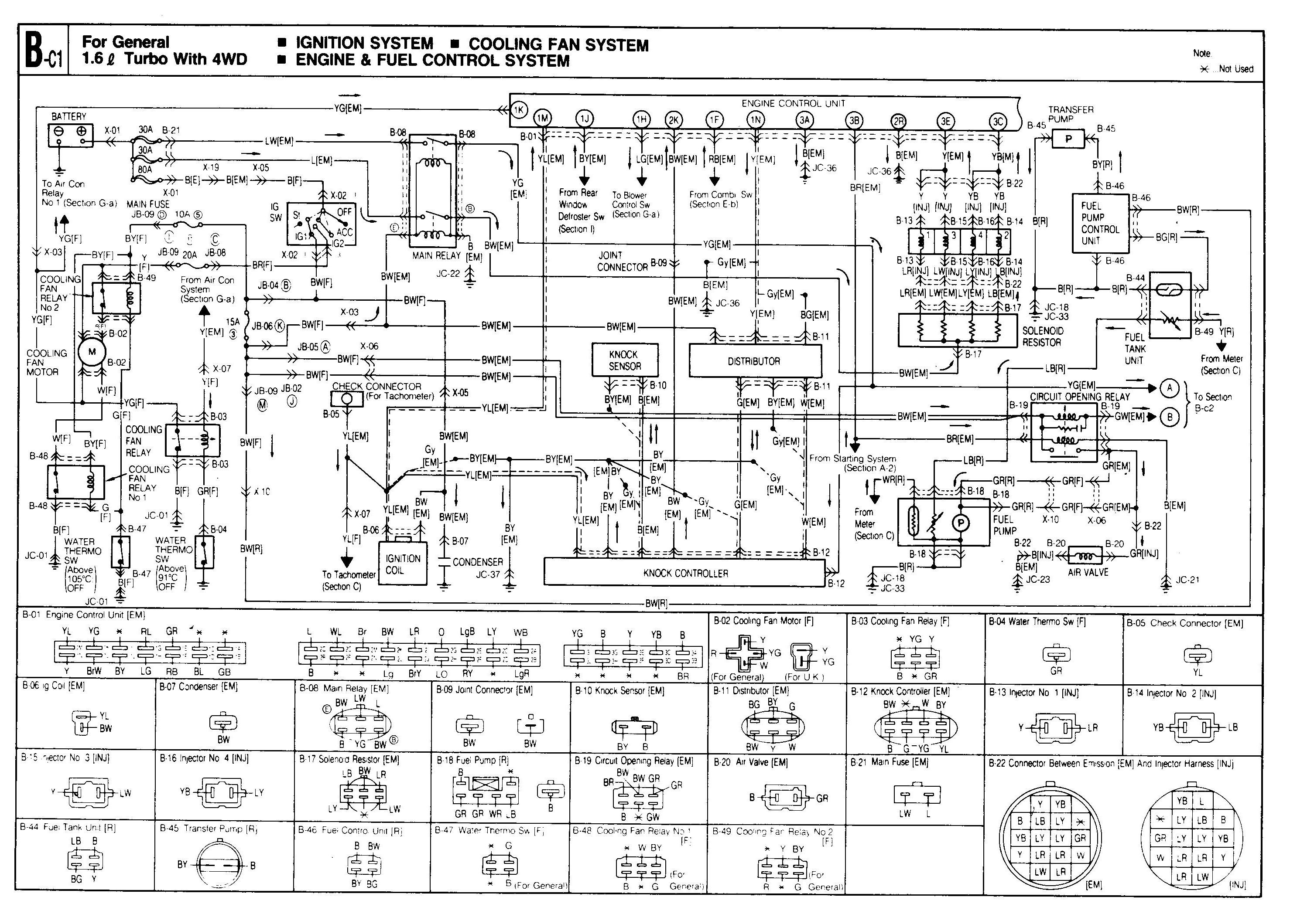 1989 Mazda 323 Wiring Diagram wiring diagrams