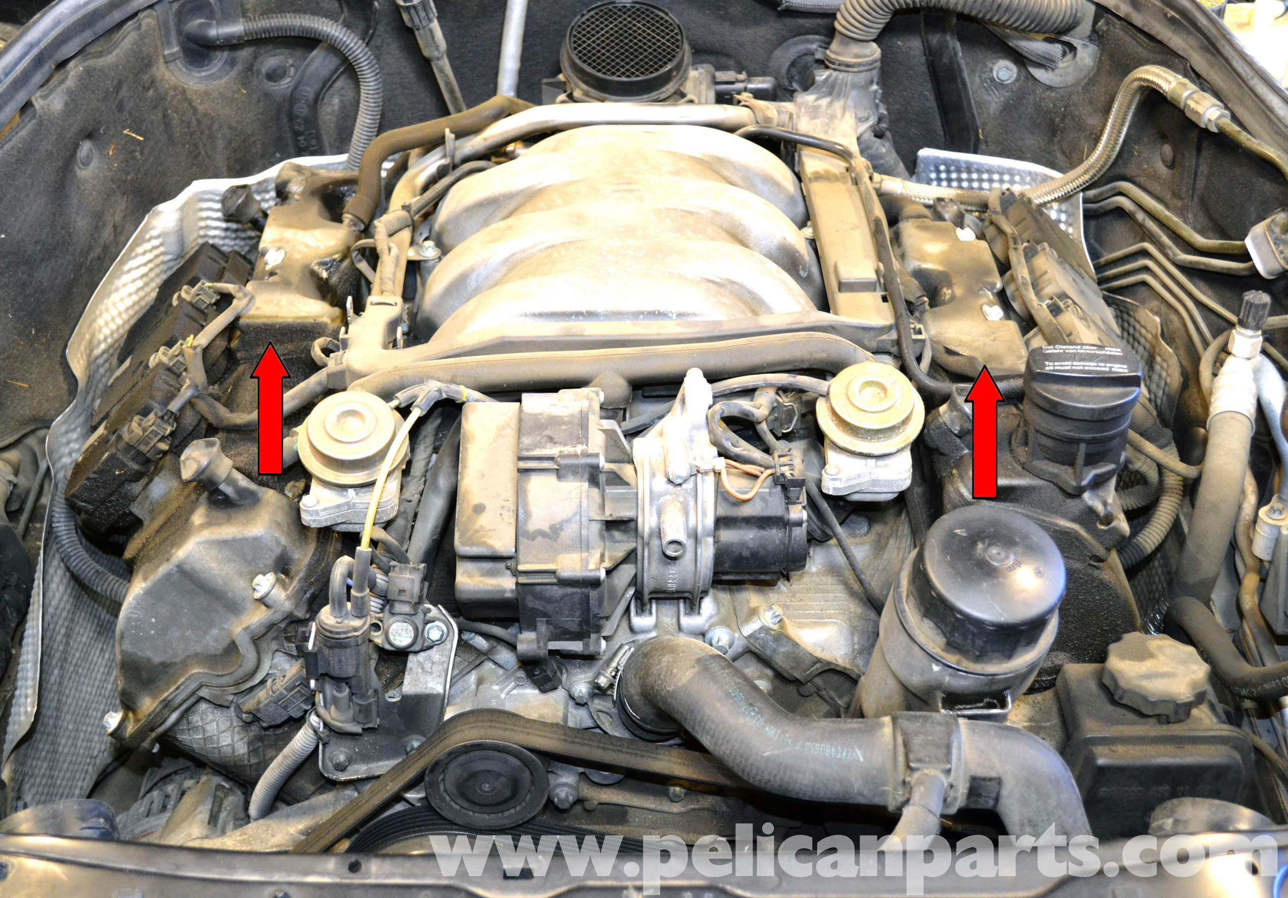 Mercedes S430 Engine Diagram Mercedes Benz W203 Valve Cover Breather Gaskets Replacement 2001 Of Mercedes S430 Engine Diagram