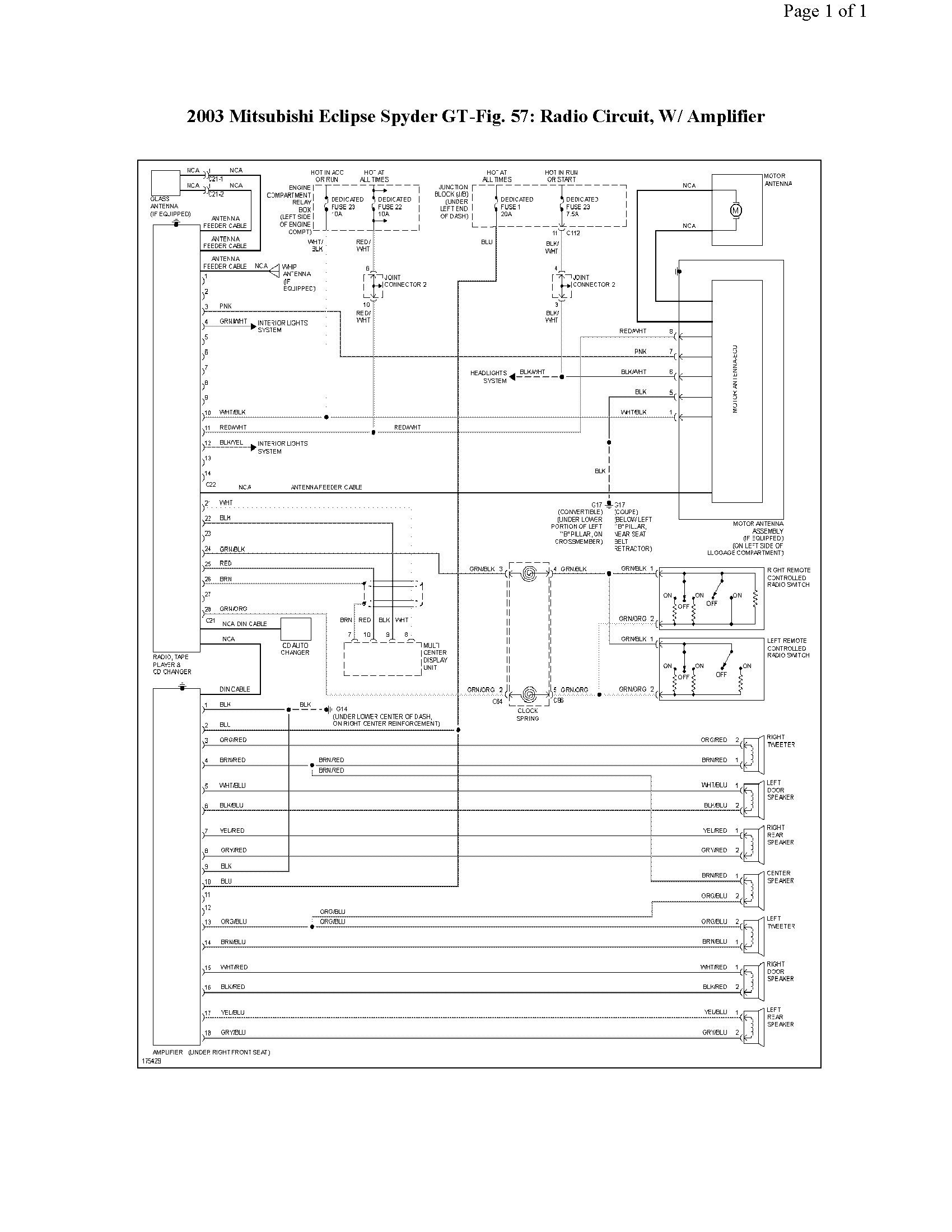 Mitsubishi Eclipse Wiring Diagram Car Stereo Wiring Diagram Mitsubishi Wiring solutions Of Mitsubishi Eclipse Wiring Diagram