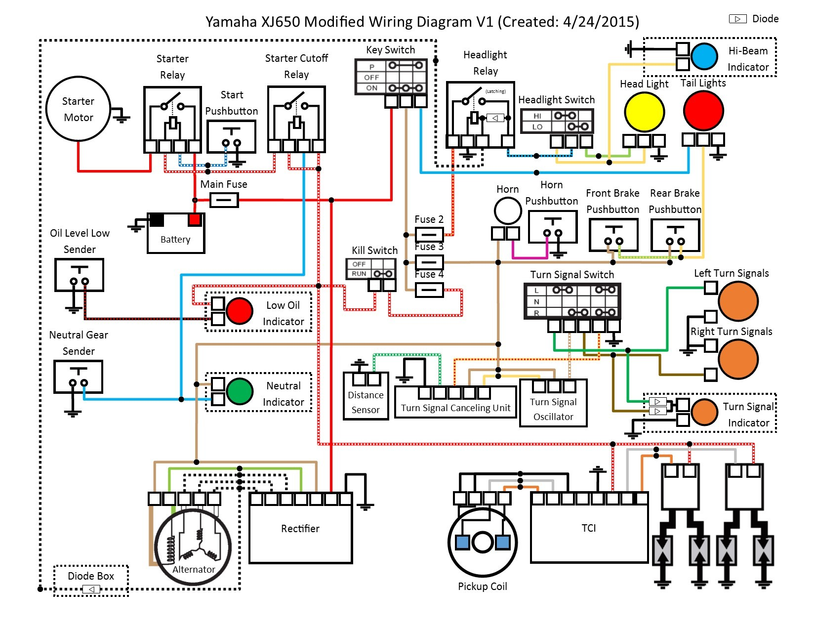 Motorcycle Electrical Diagram Yamaha 650 Maxim Wiring Diagram View Diagram Wiring Diagrams Wiring Of Motorcycle Electrical Diagram