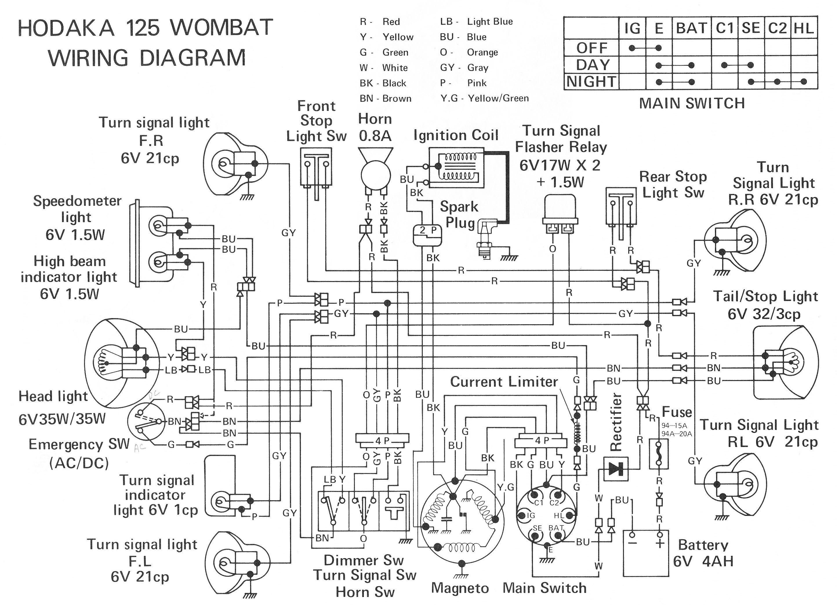 Motorcycle Engine Parts Diagram Bike Wiring Electrical Parts Free